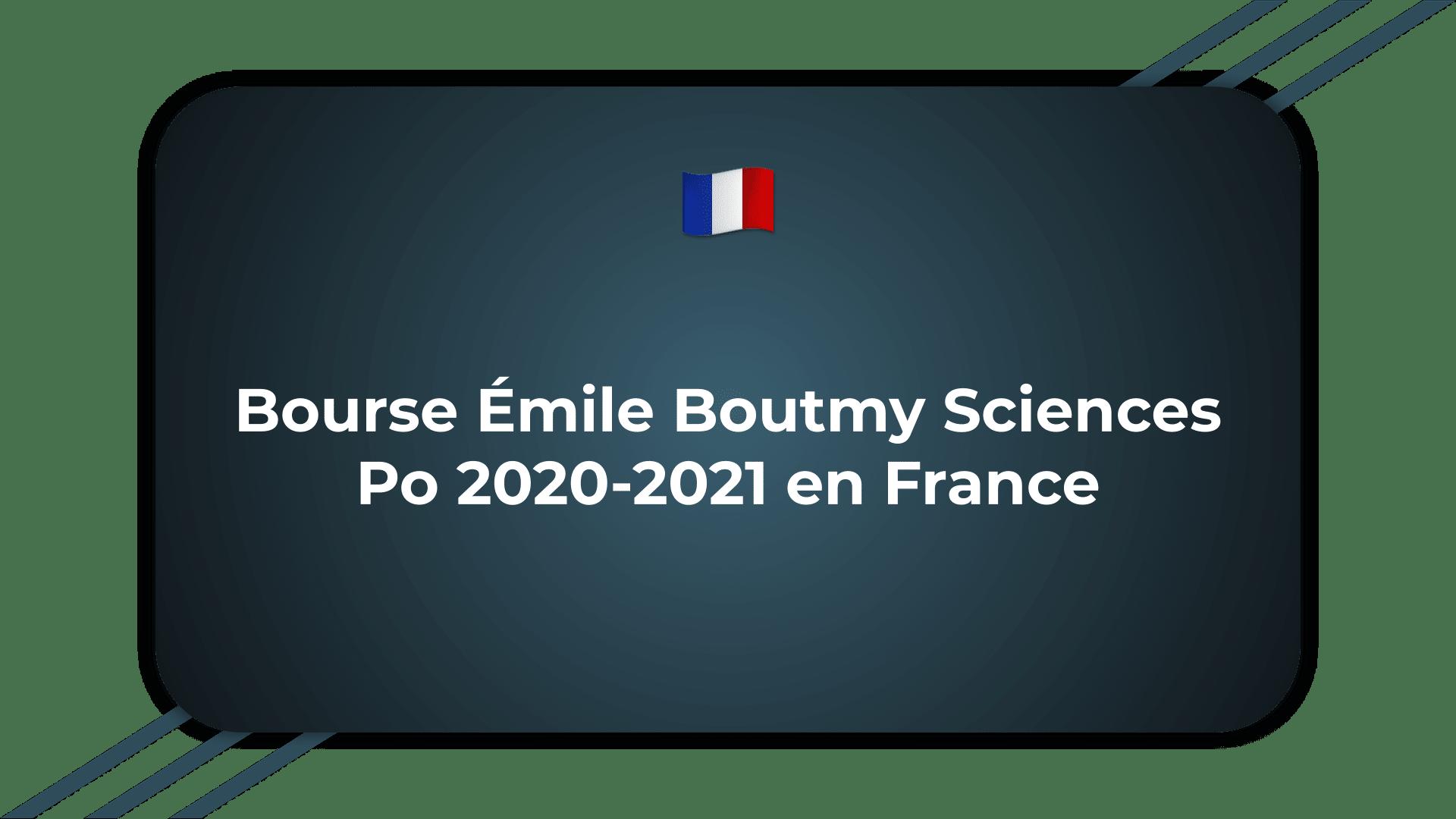 Bourse Émile Boutmy Sciences Po