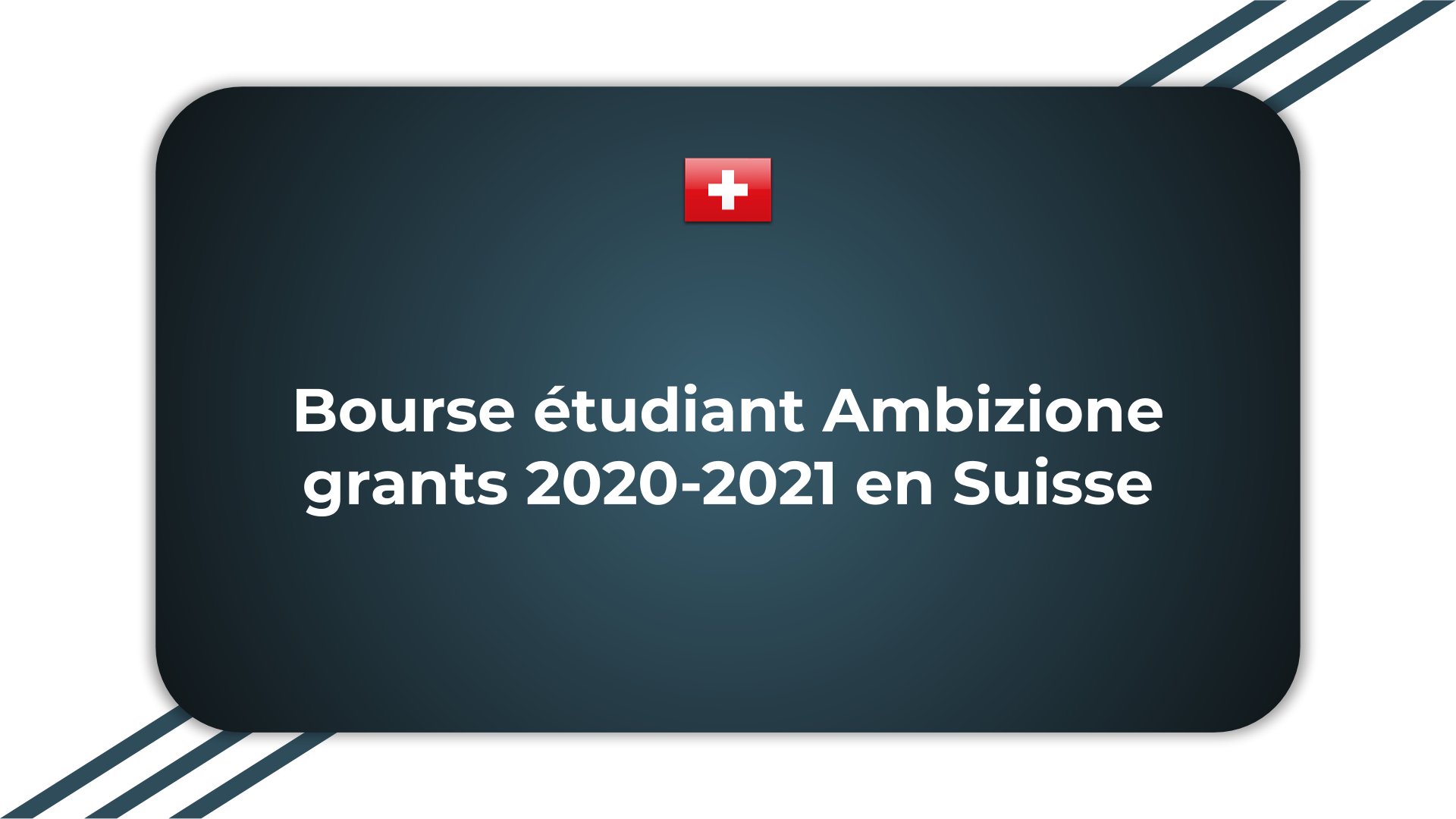 Bourse étudiant Ambizione grants
