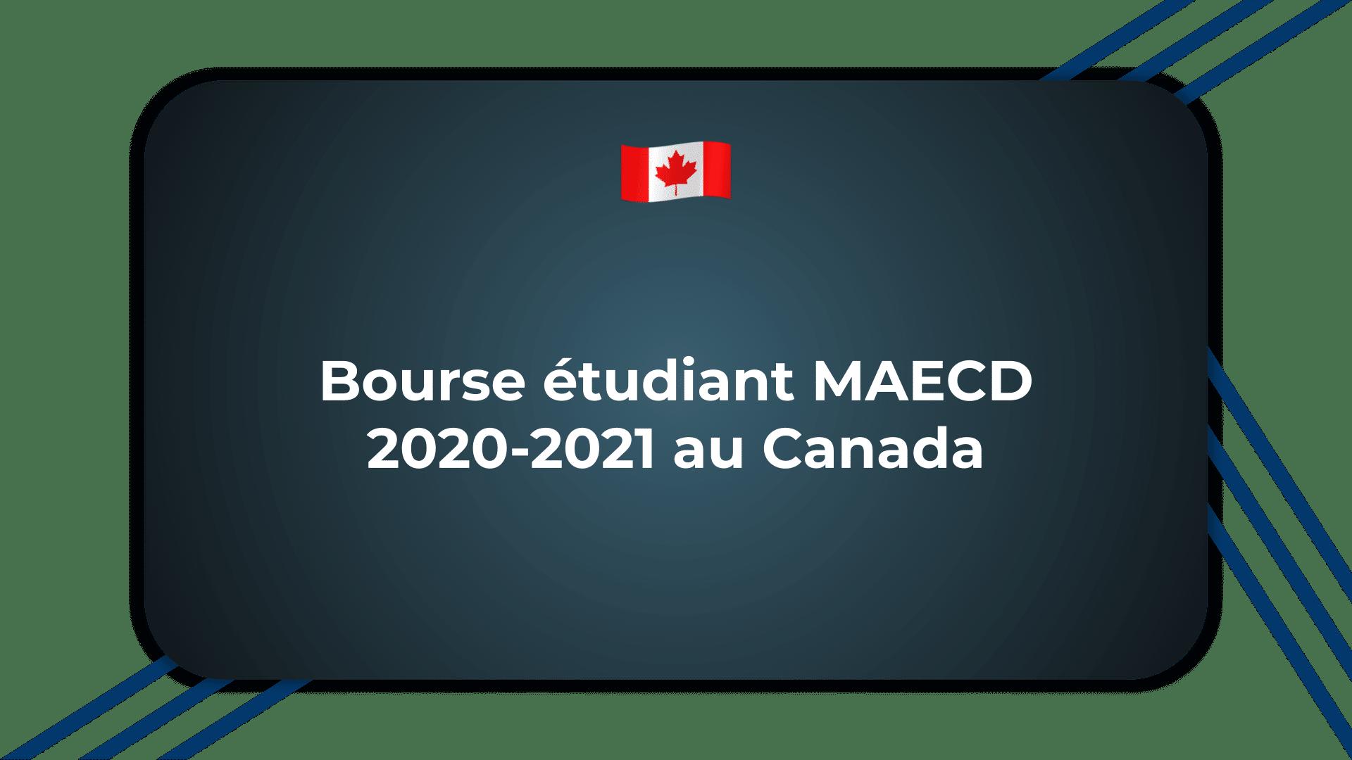 Bourse étudiant MAECD