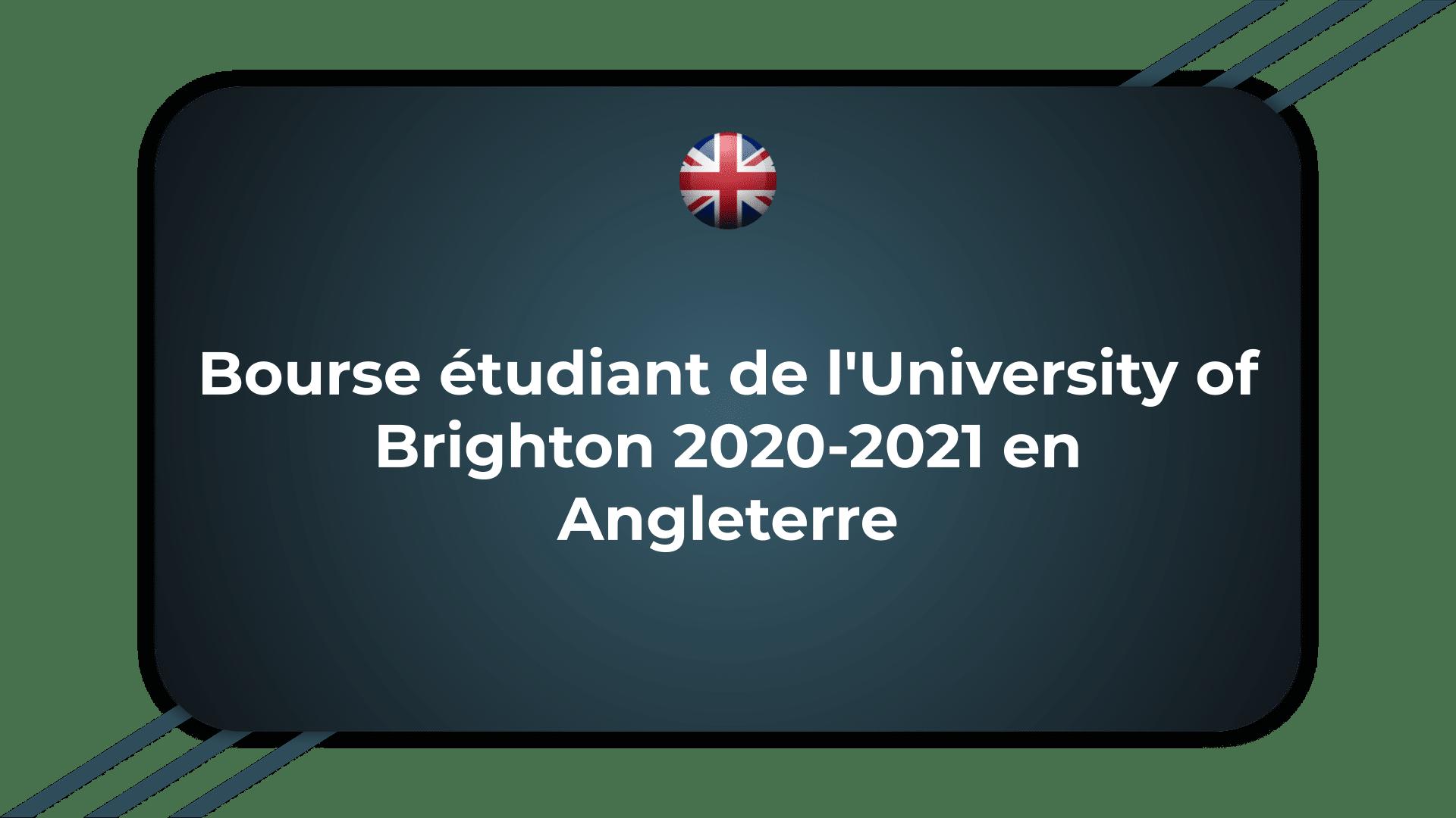 Bourse étudiant de l'University of Brighton