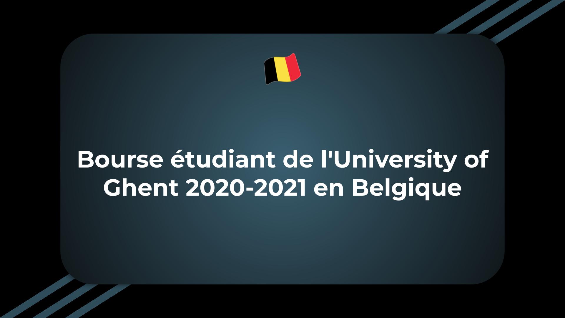 Bourse étudiant de l'University of Ghent