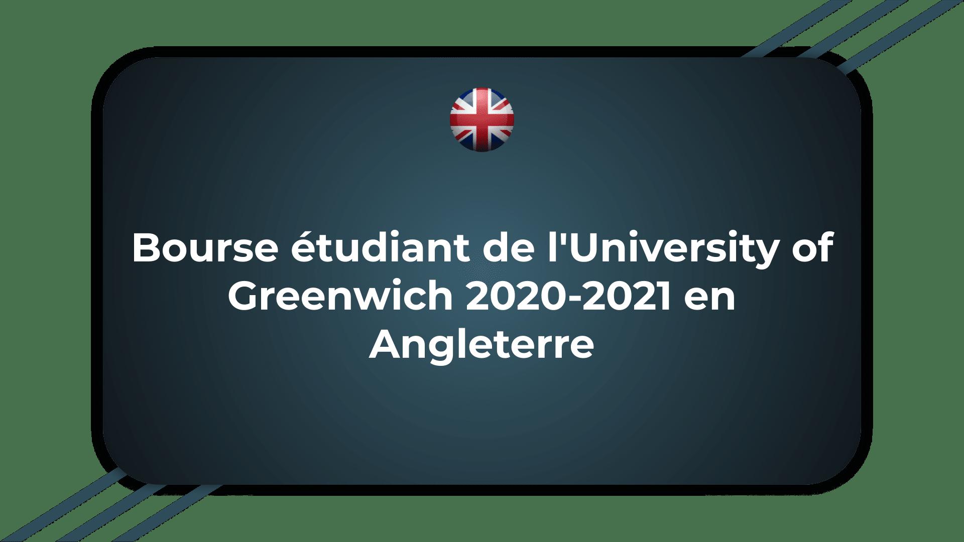 Bourse étudiant de l'University of Greenwich