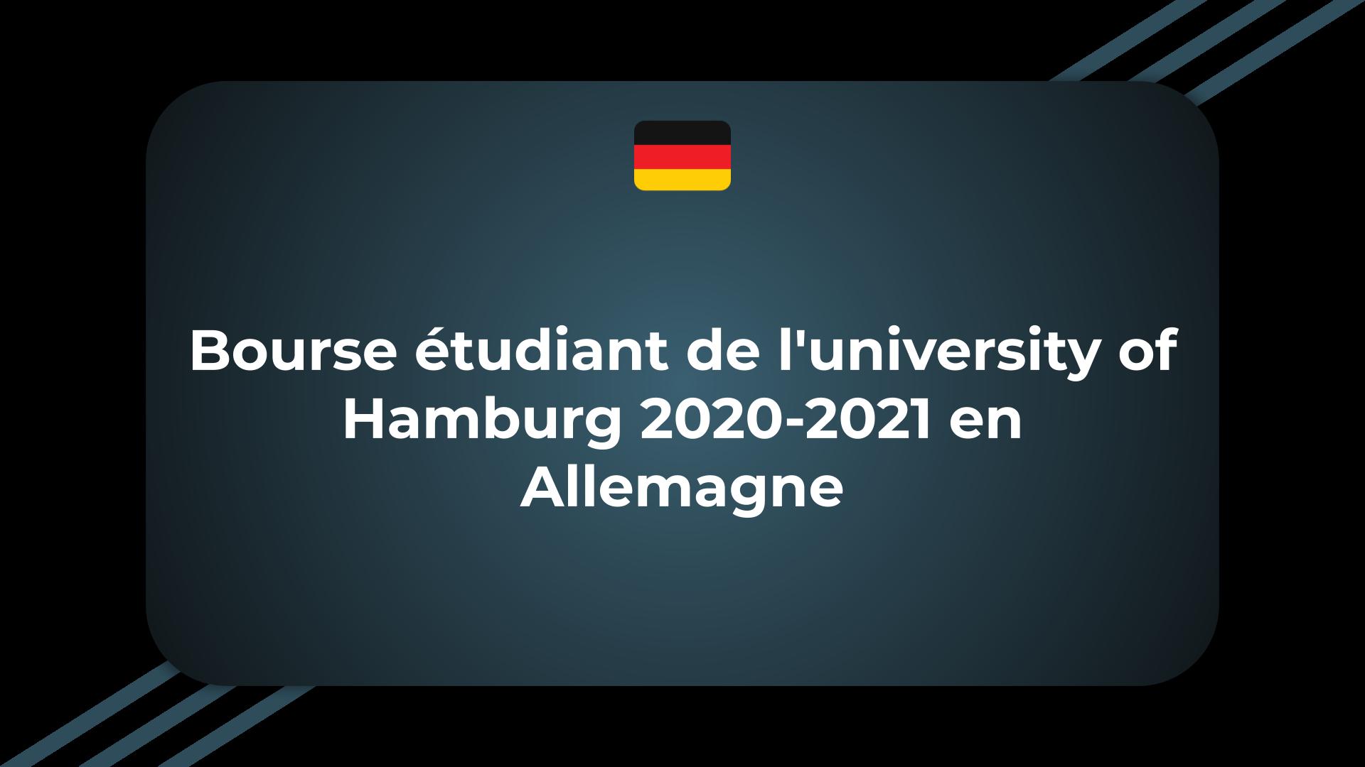 Bourse étudiant de l'university of Hamburg