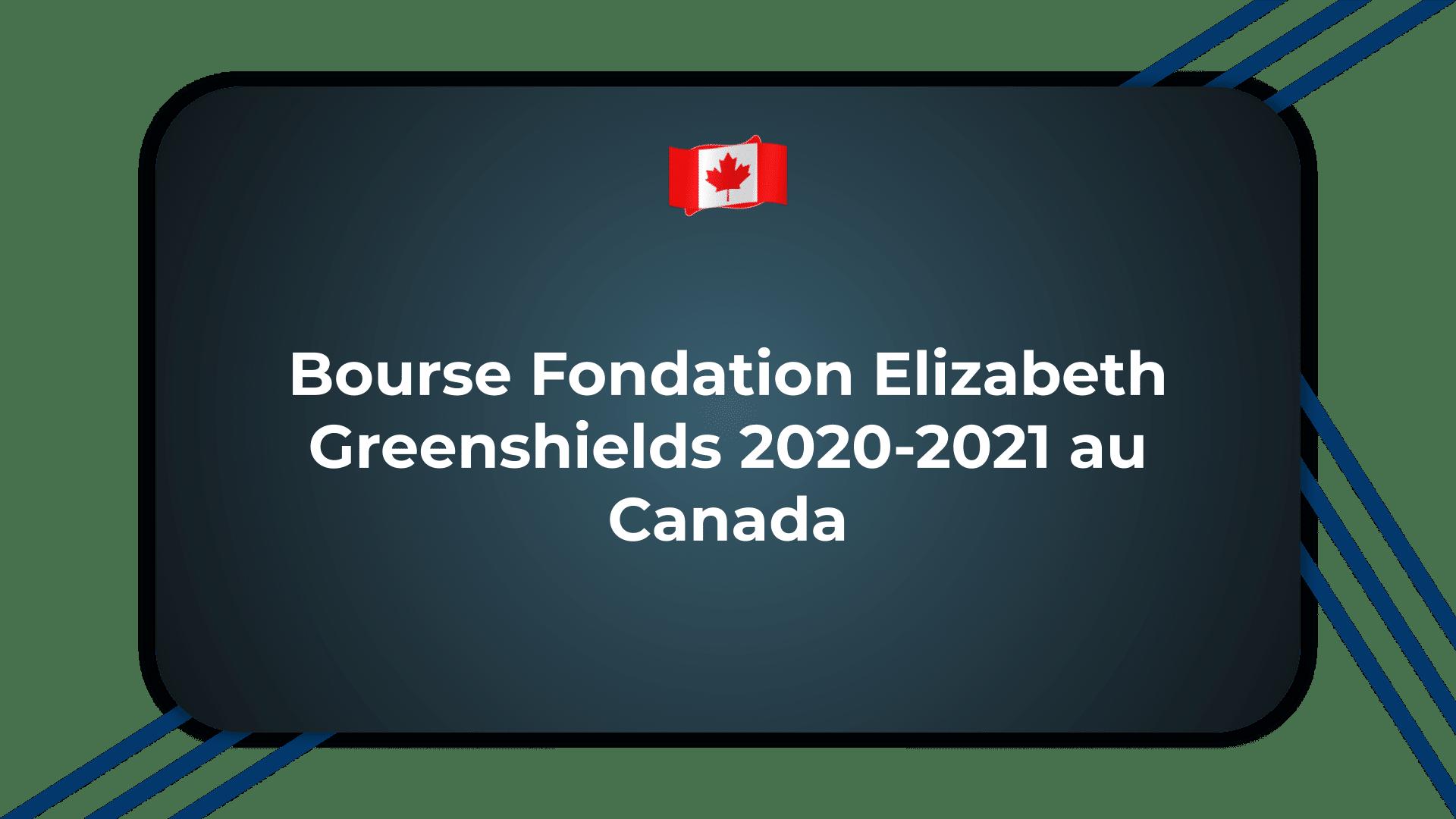 Bourse Fondation Elizabeth Greenshields