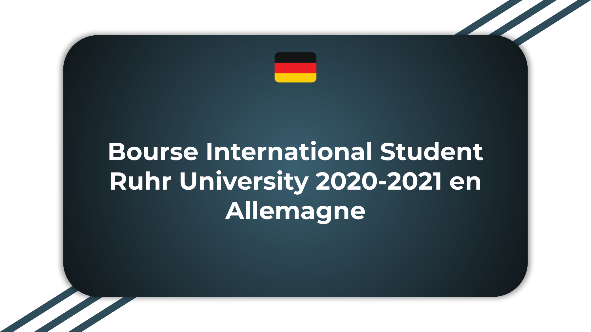 Bourse International Student Ruhr University