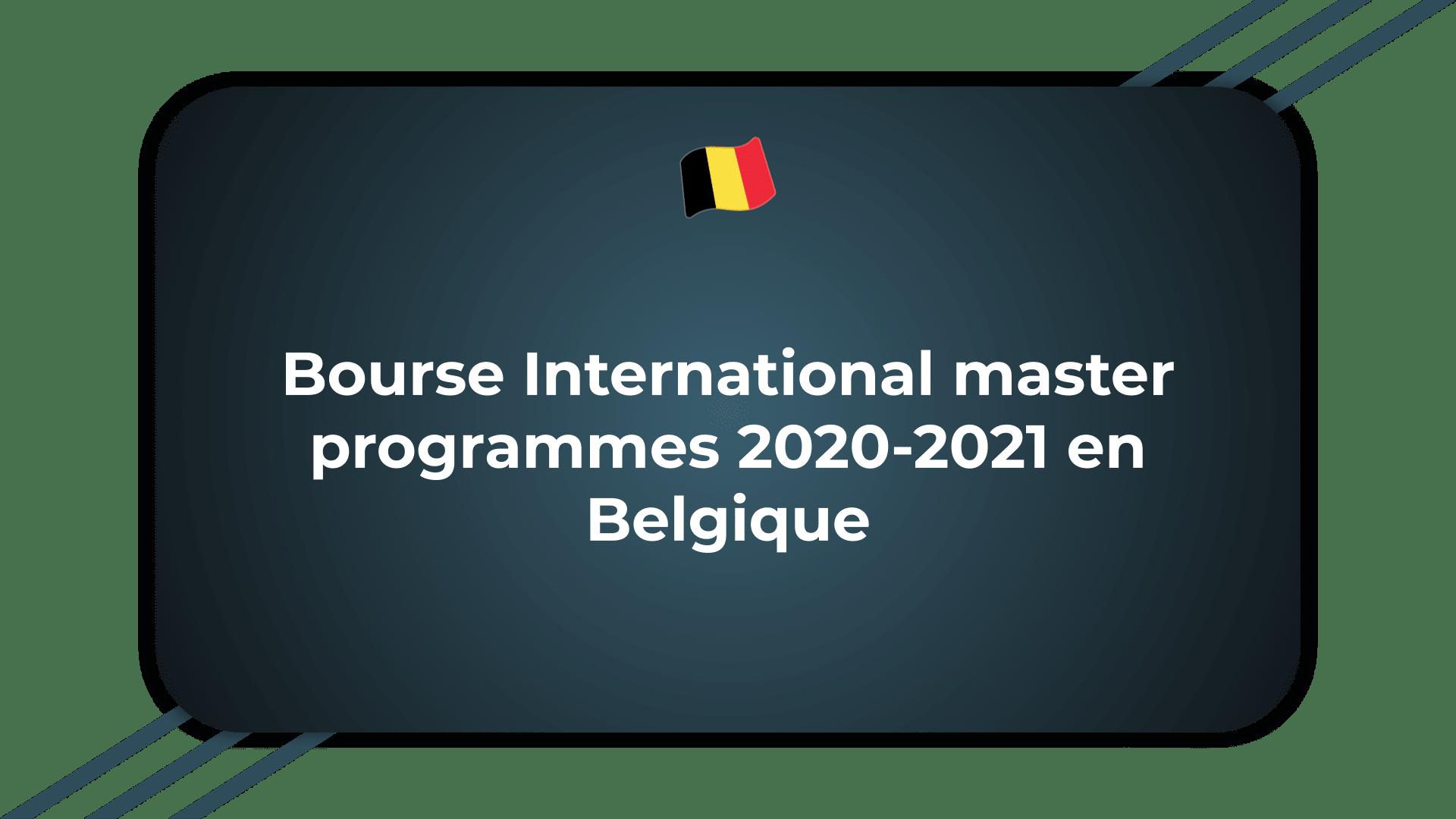 Bourse International master programmes