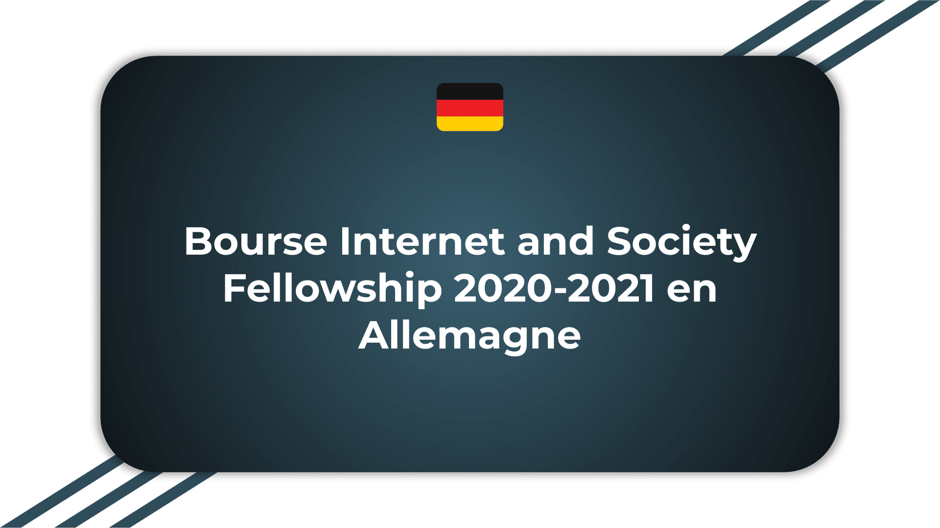 Bourse Internet and Society Fellowship