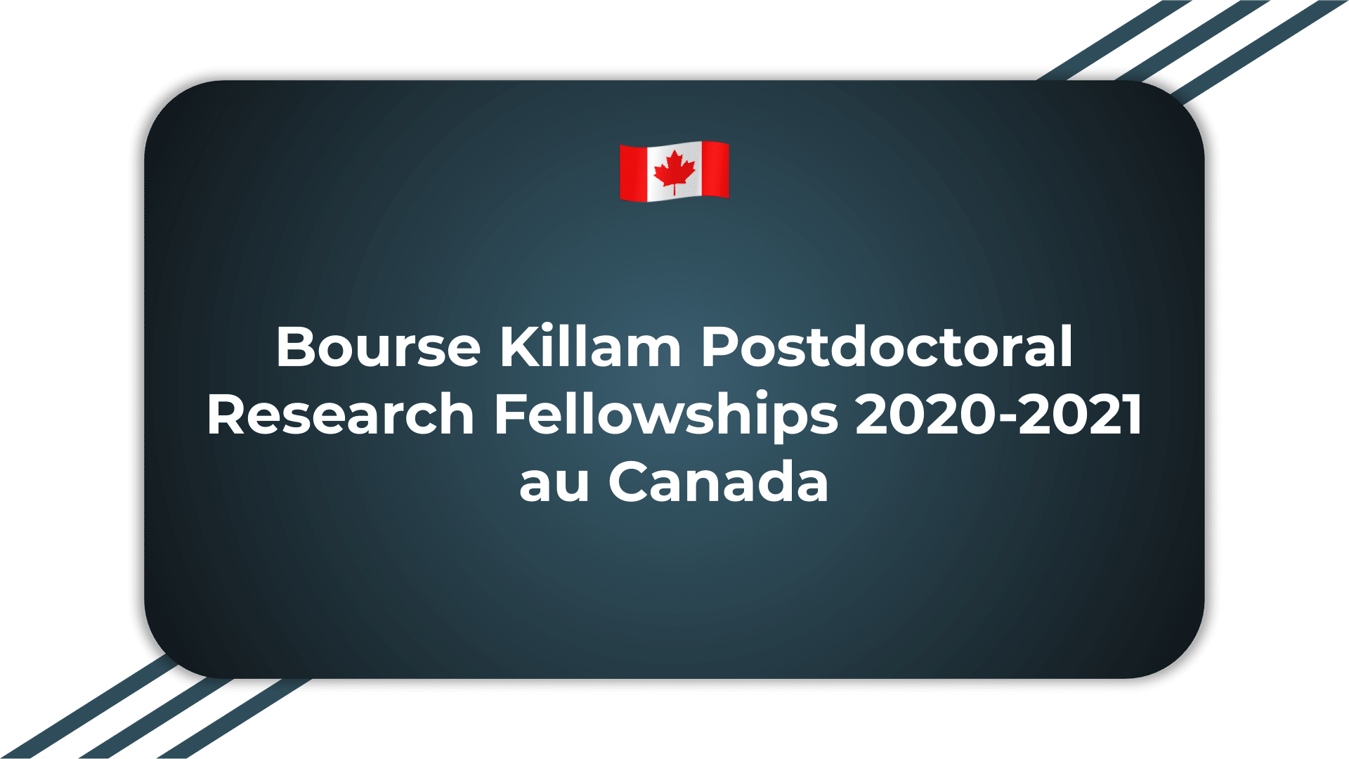 Bourse Killam Postdoctoral Research Fellowships
