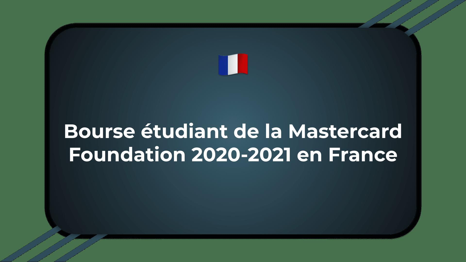 Bourse Mastercard Foundation