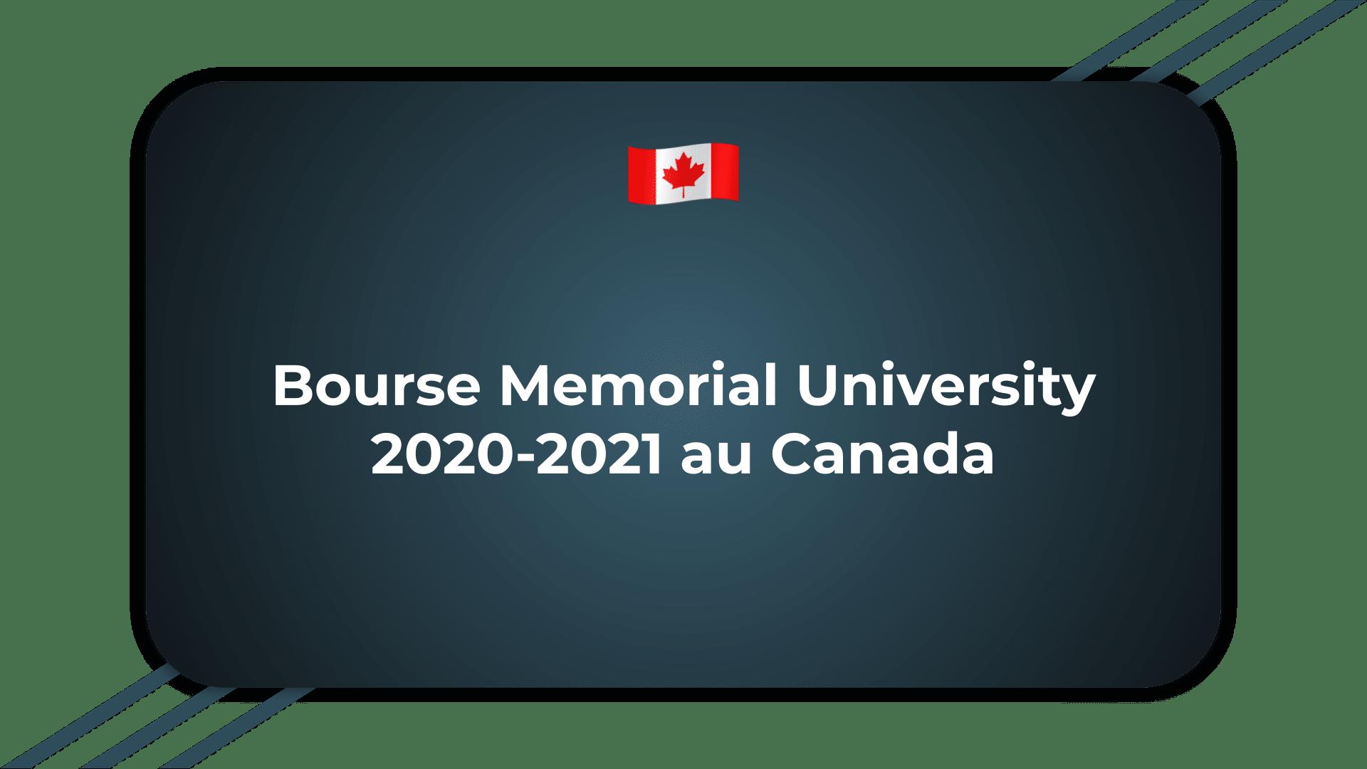 Bourse Memorial University