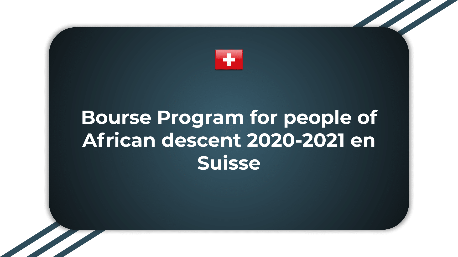 Bourse Program for people of African descent