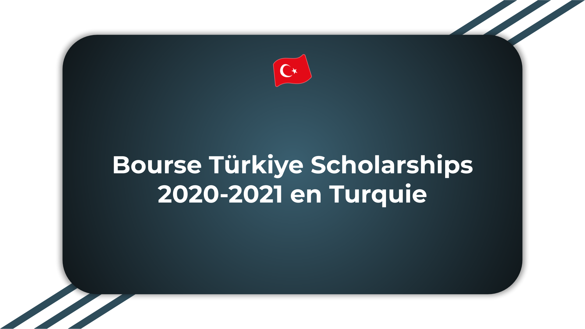 Bourse Türkiye Scholarships