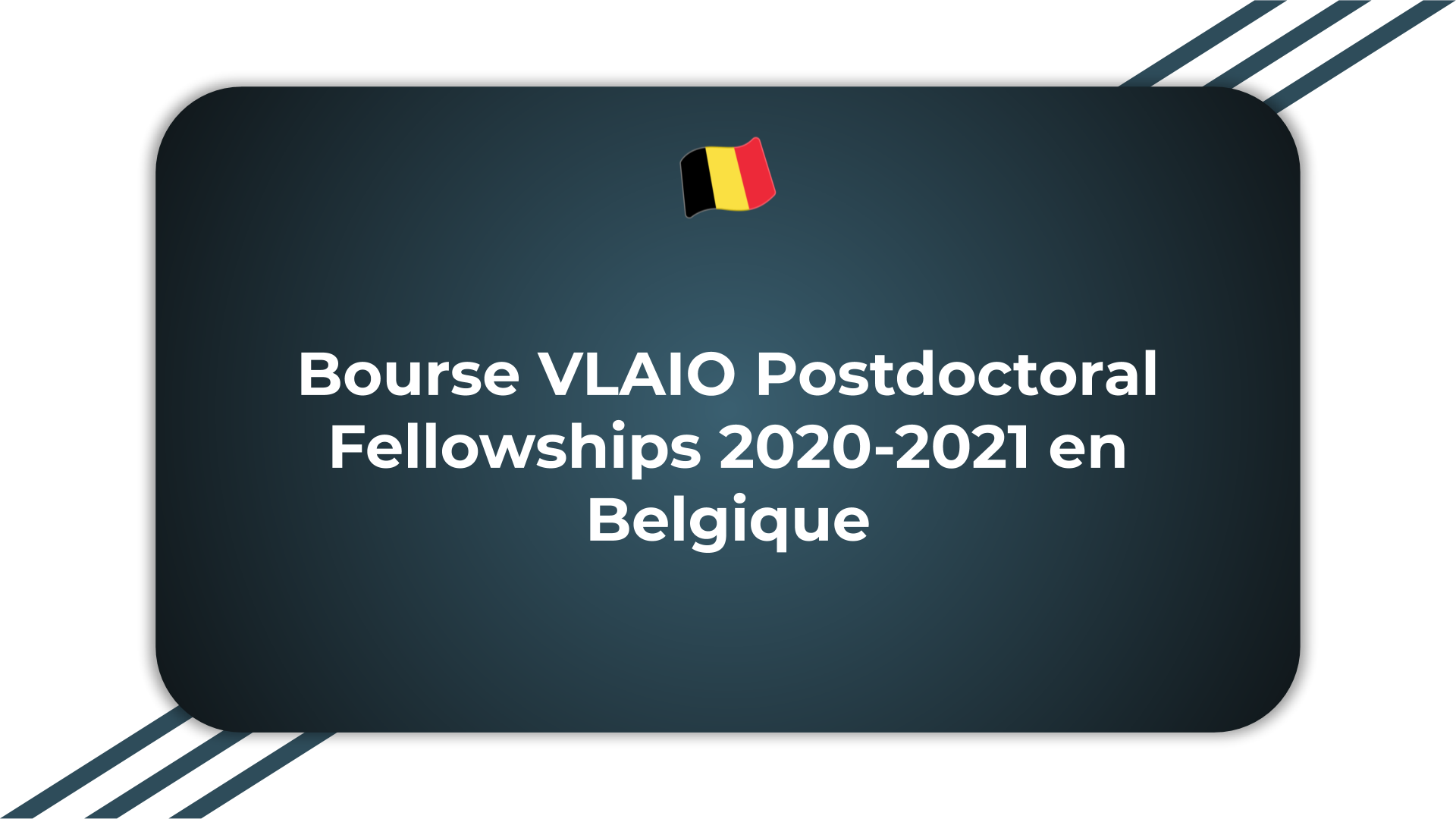 Bourse VLAIO Postdoctoral Fellowships