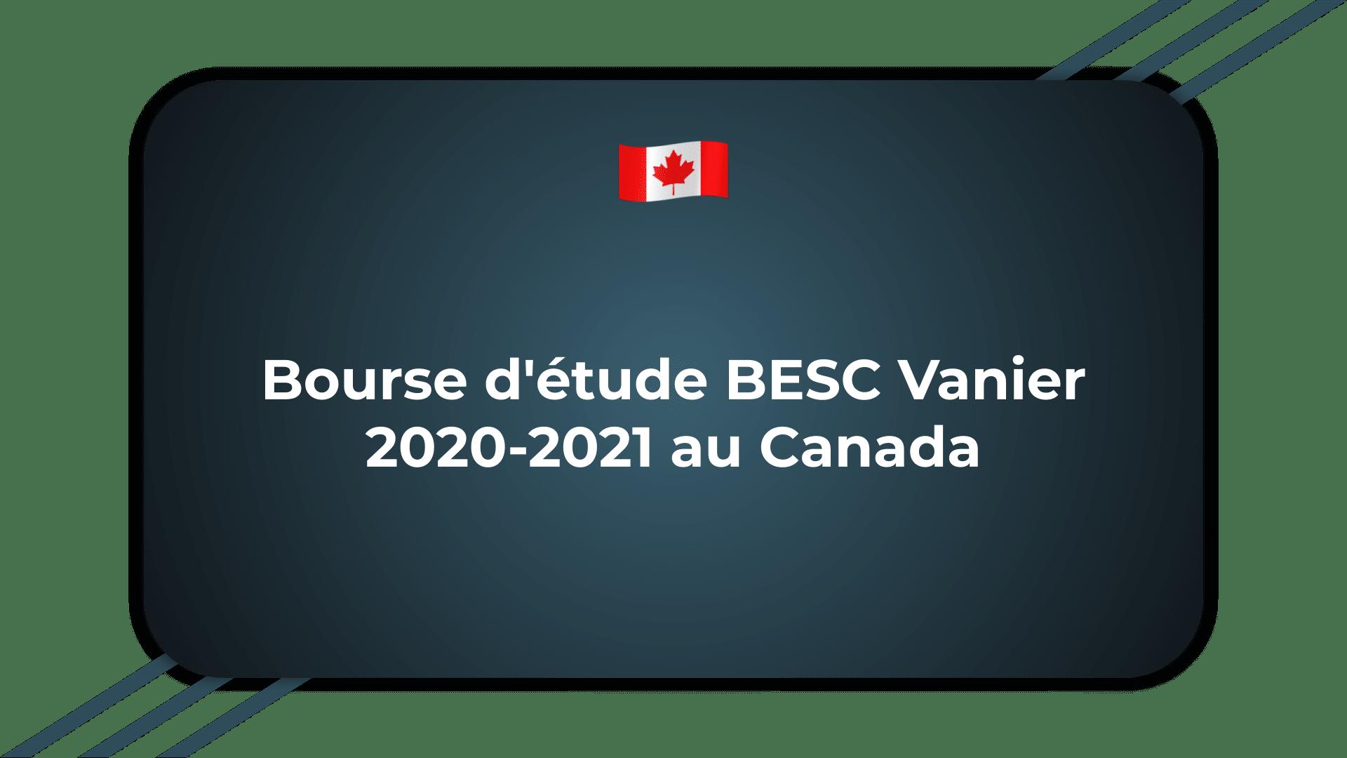 Bourse d'étude BESC Vanier