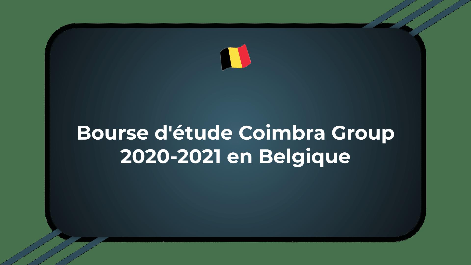 Bourse d'étude Coimbra Group