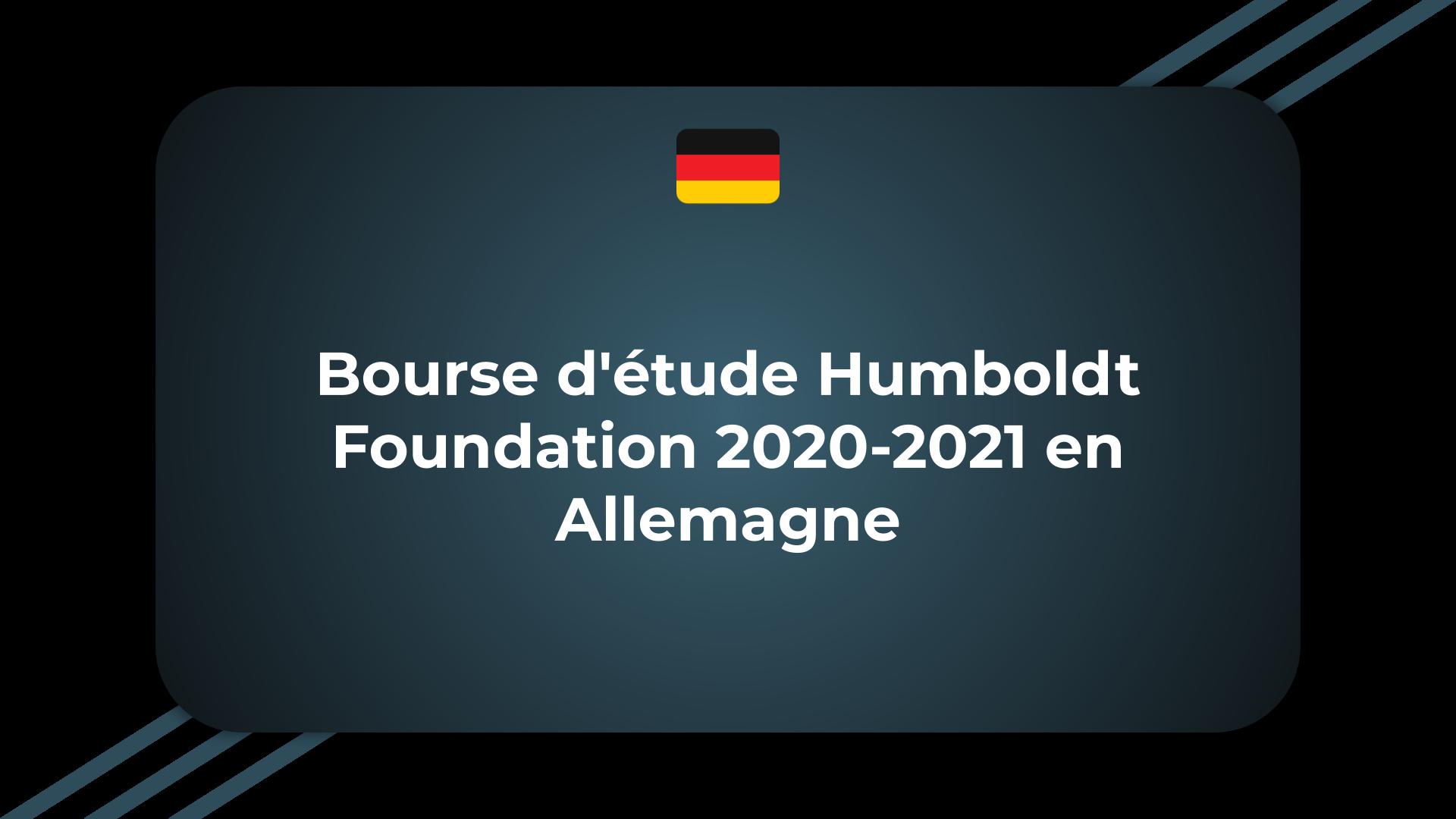 Bourse d'étude Humboldt Foundation