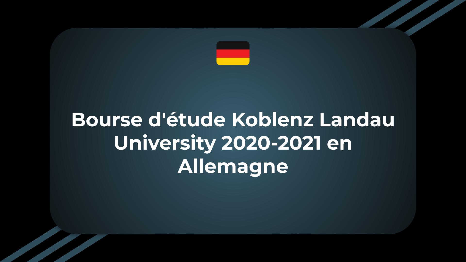Bourse d'étude Koblenz Landau University