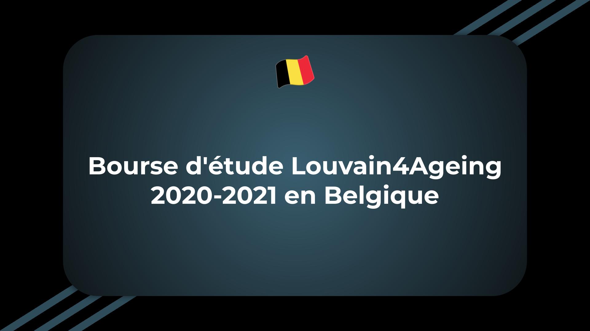 Bourse d'étude Louvain4Ageing