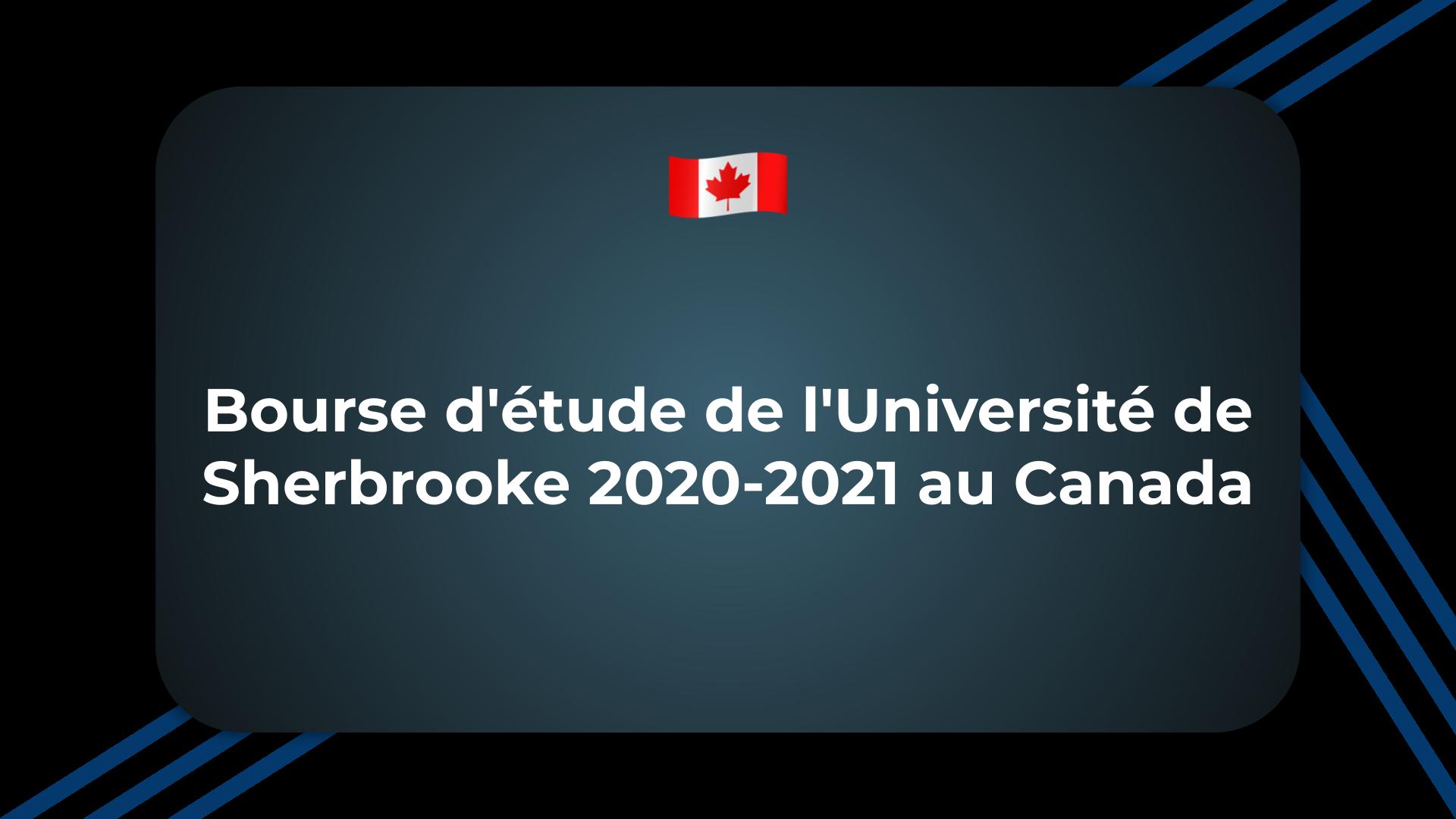 Bourse d'étude de l'Université de Sherbrooke