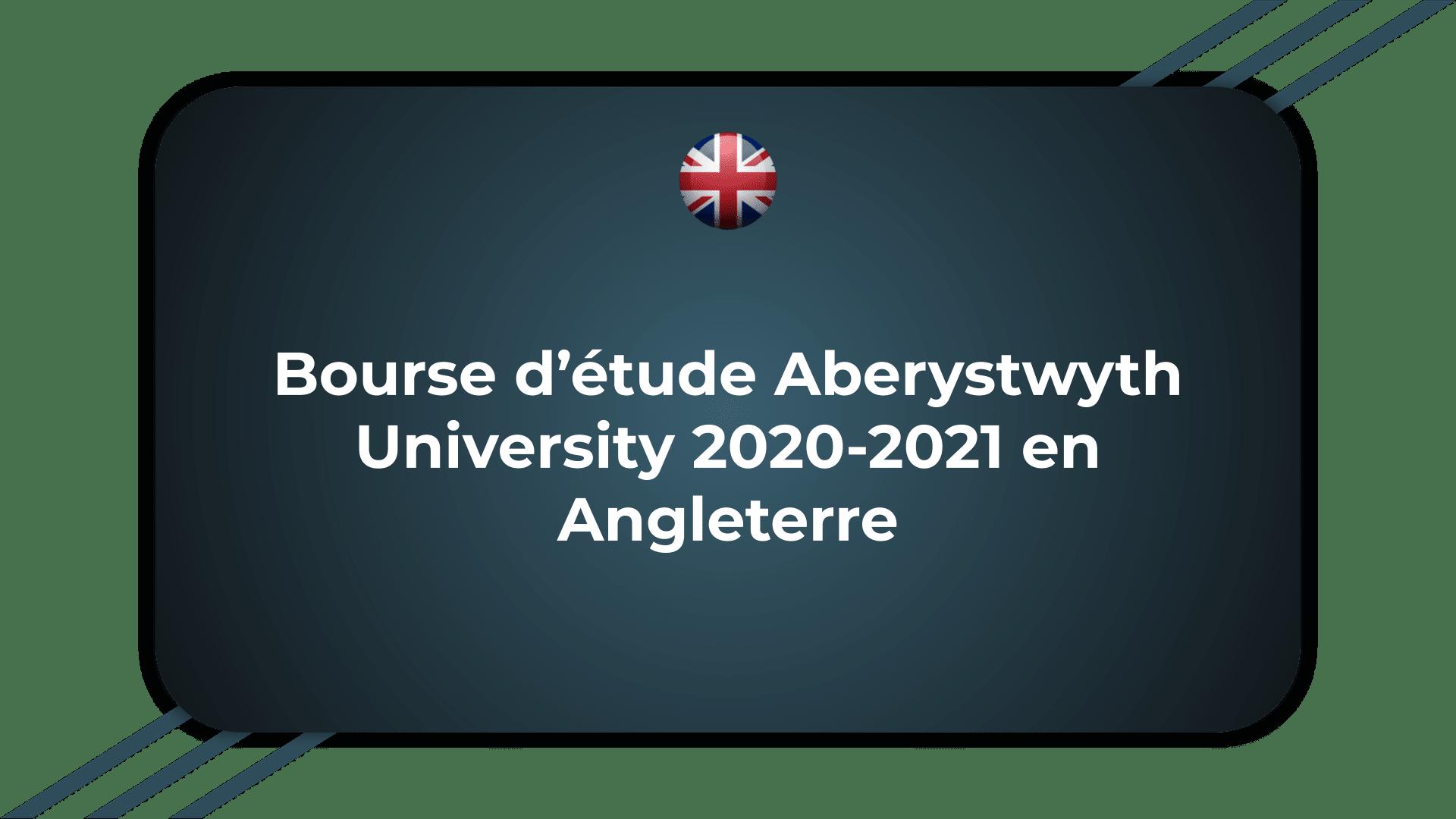 Bourse d'étude Aberystwyth University