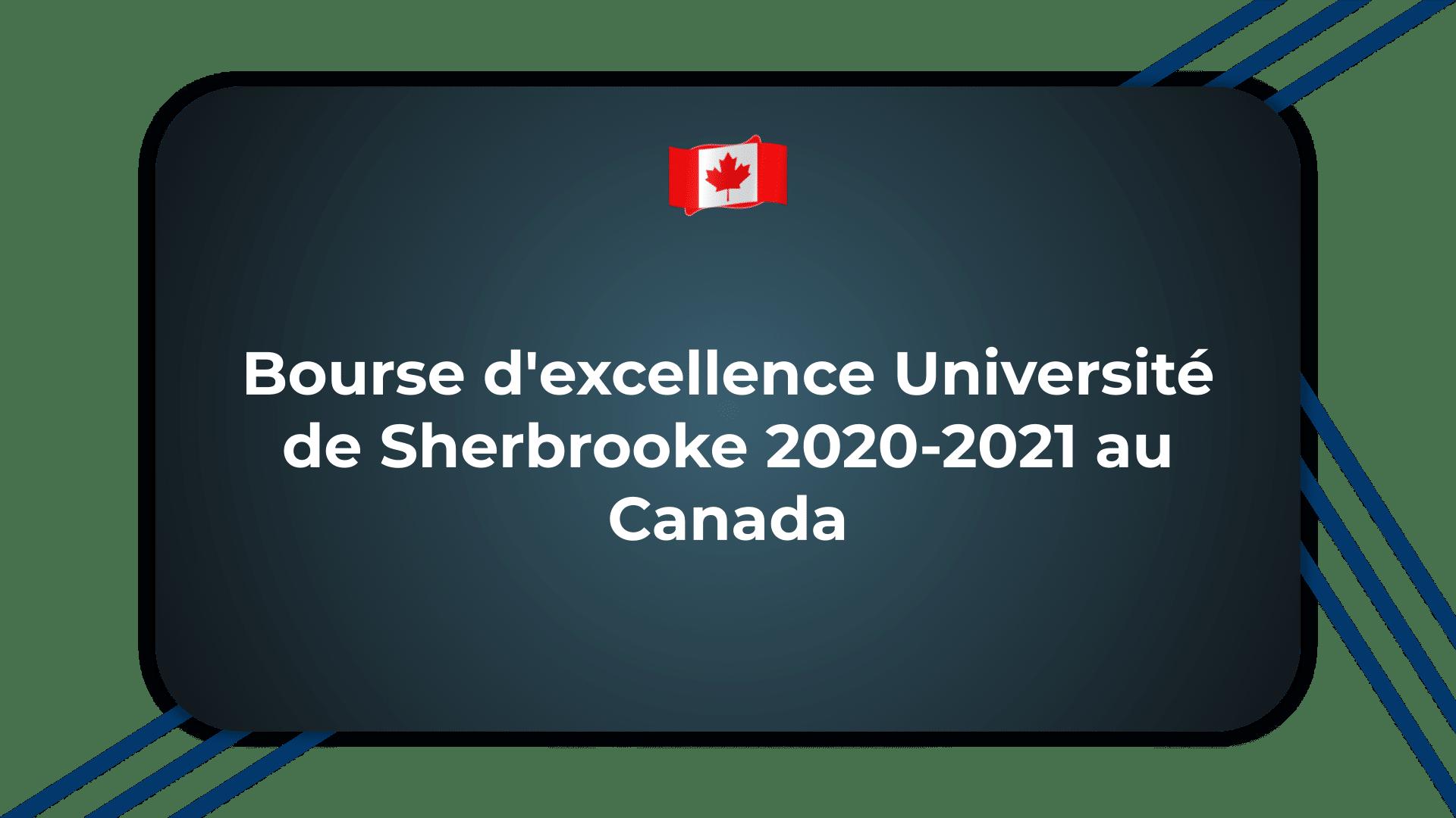 Bourse d'excellence Université de Sherbrooke
