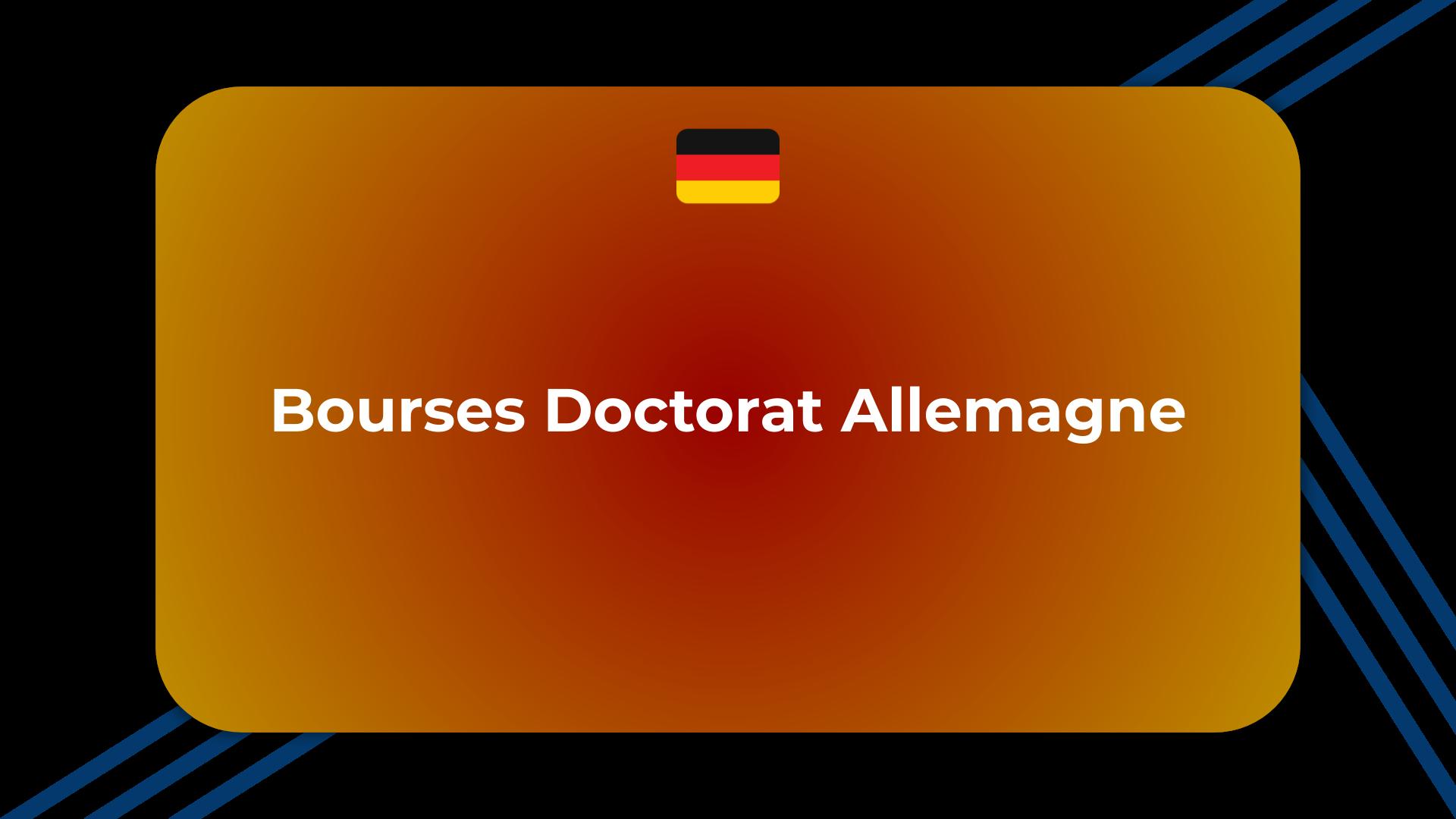 Bourses Doctorat Allemagne