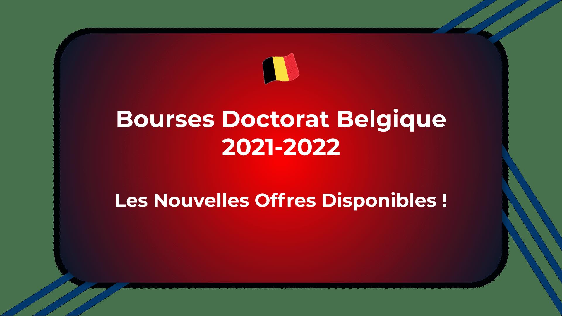 Bourses Doctorat Belgique