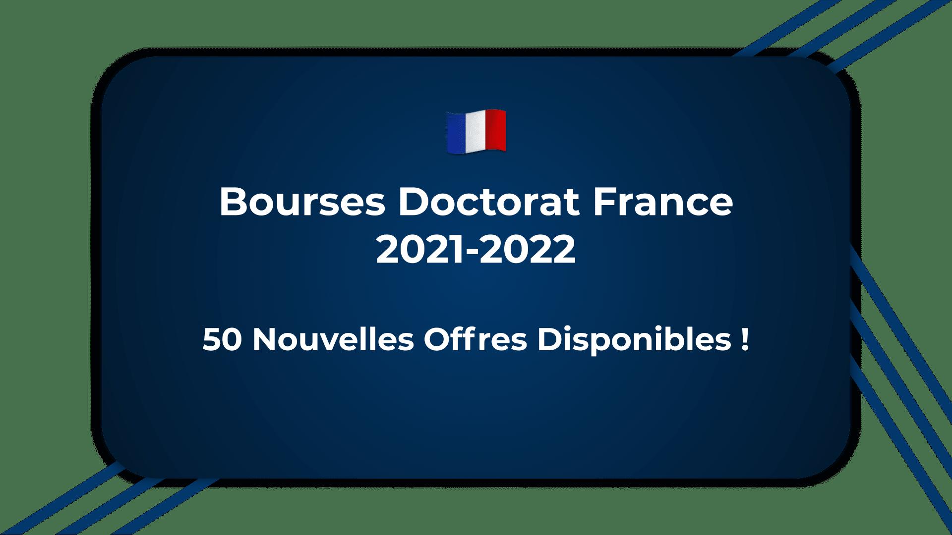 Bourses Doctorat France