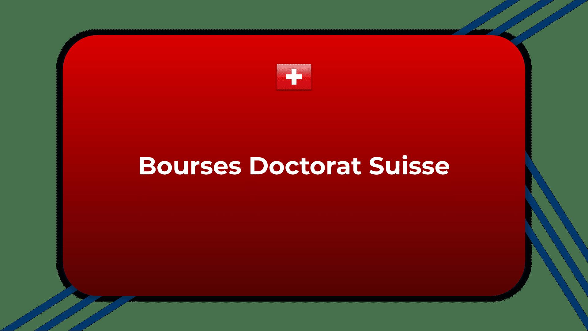 Bourses Doctorat Suisse