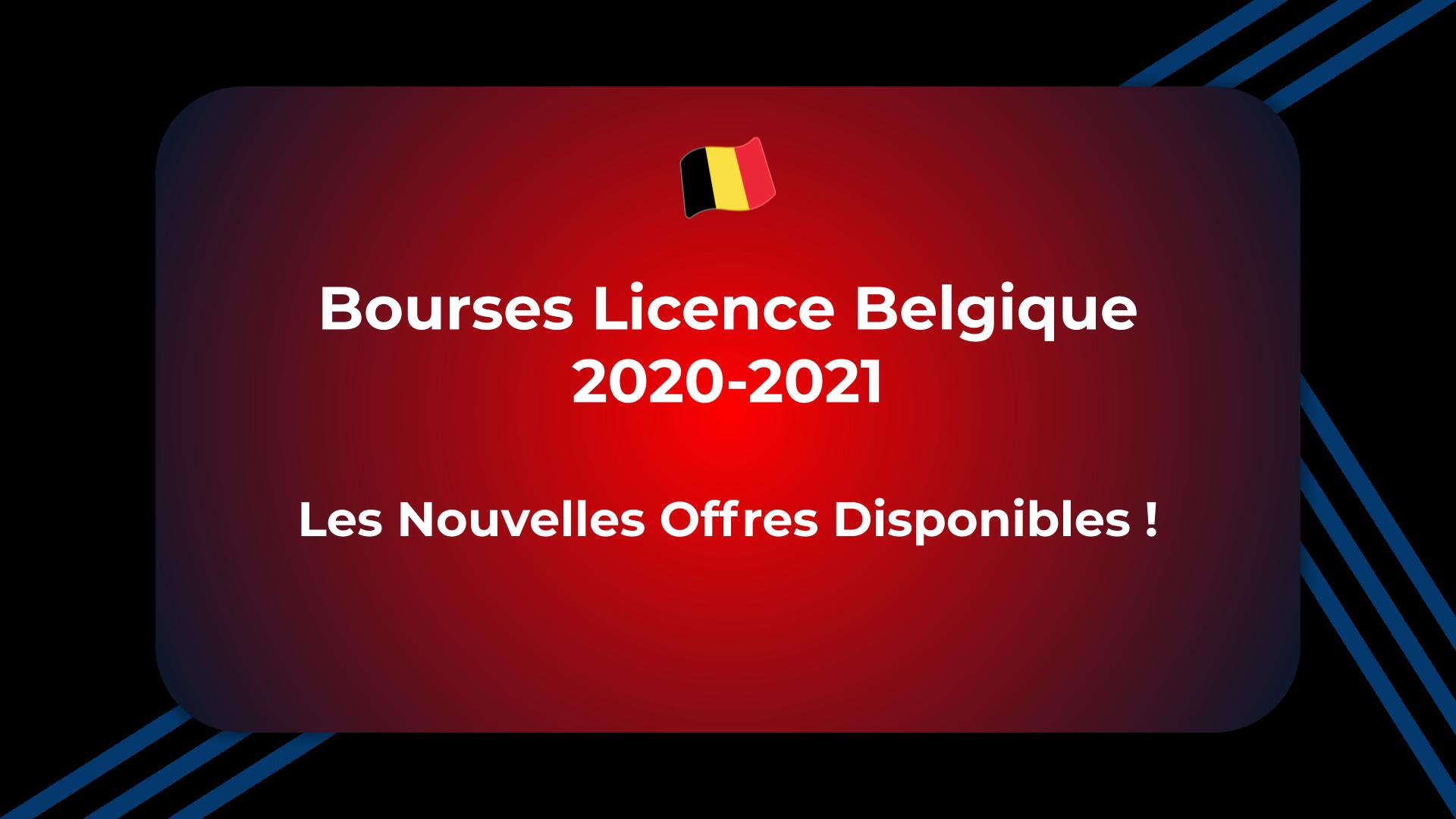 Bourses Licence Belgique 2020-2021