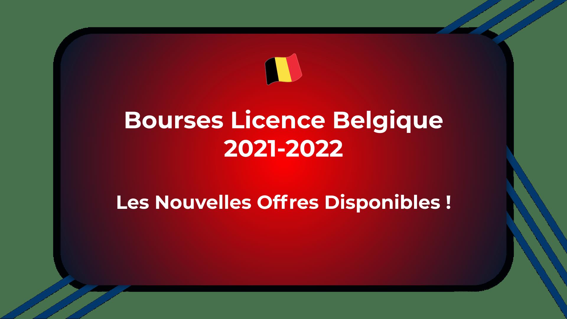 Bourses Licence Belgique