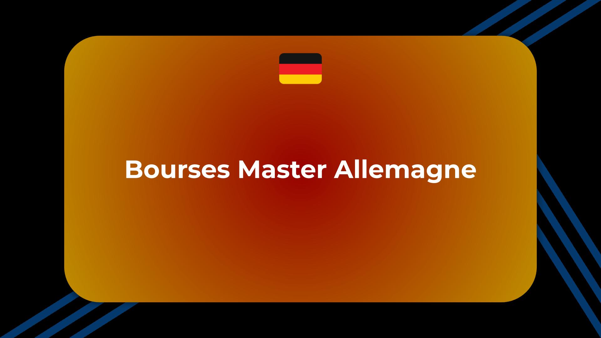 Bourses Master Allemagne