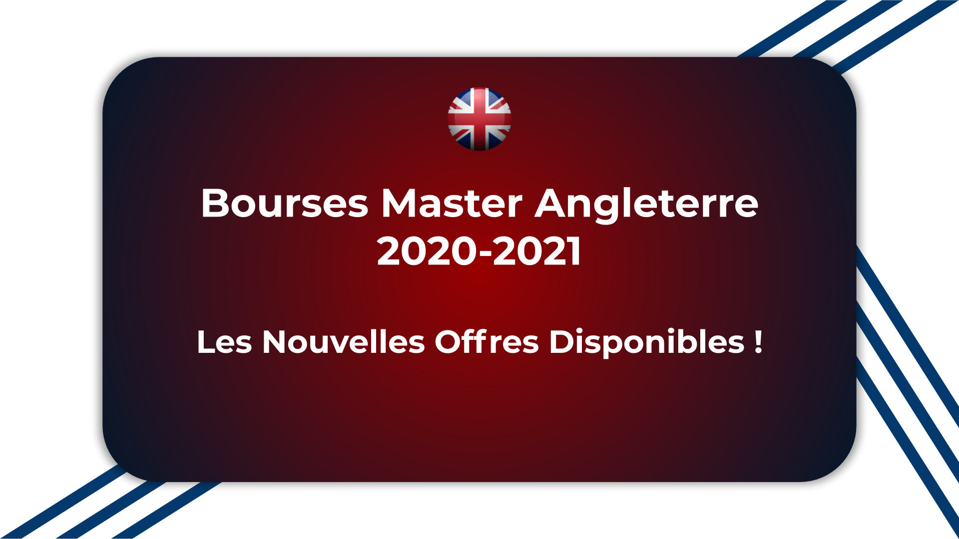 Bourses Master Angleterre 2020-2021