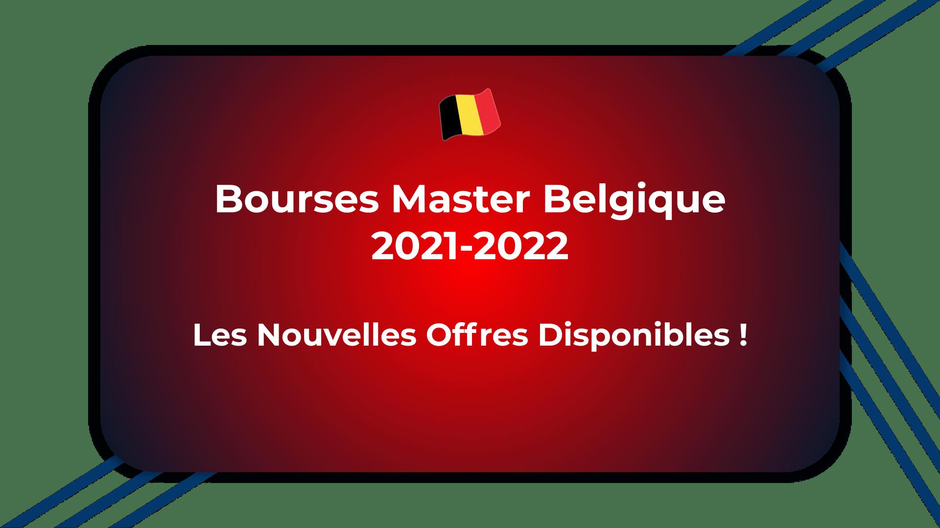 Bourses Master Belgique