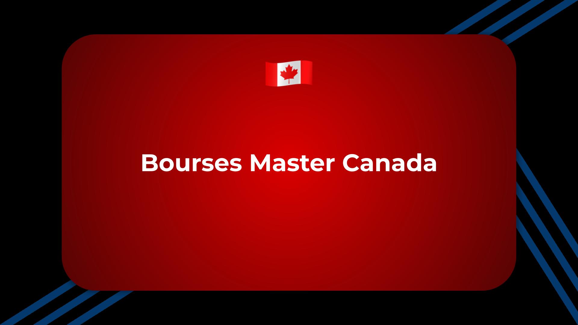 Bourses Master Canada