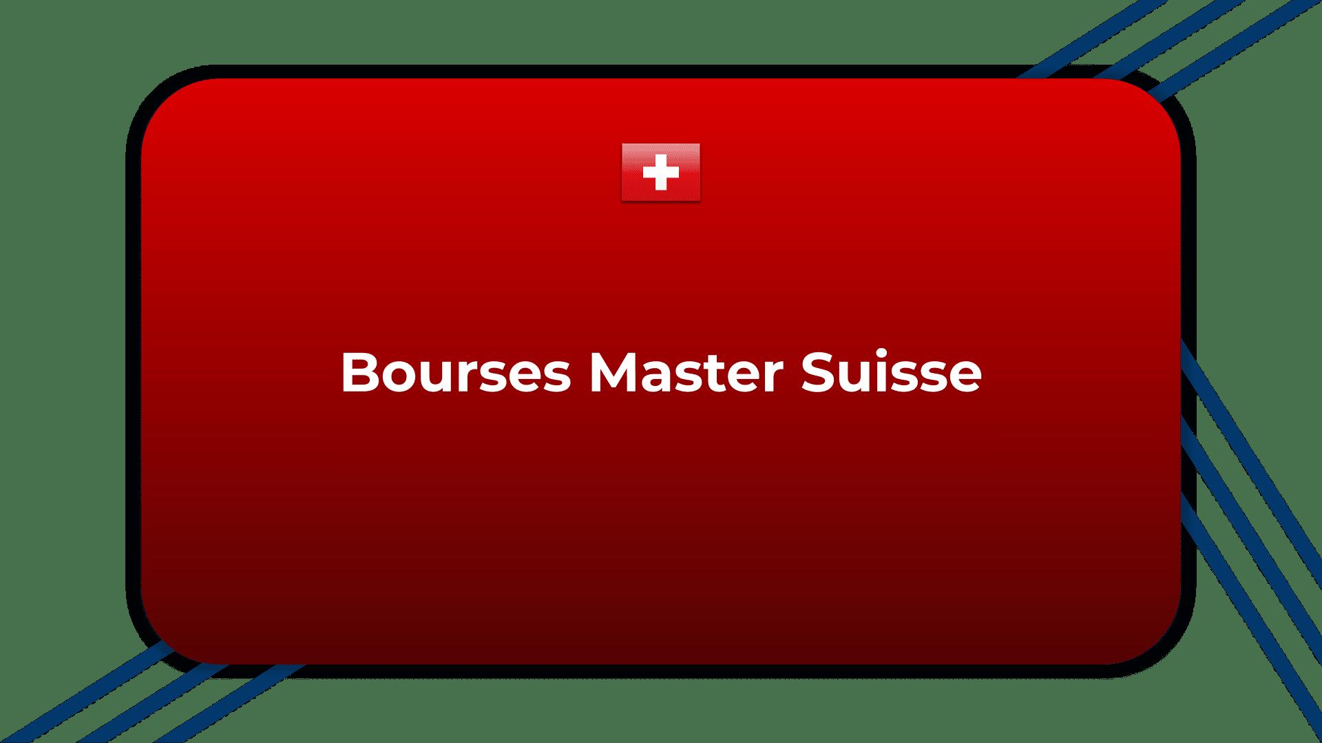 Bourses Master Suisse