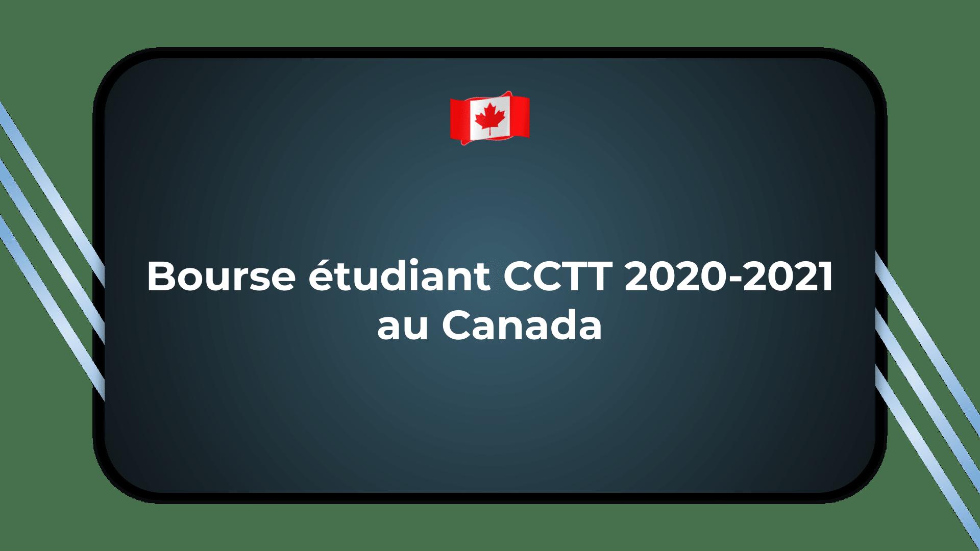 Bourse étudiant CCTT