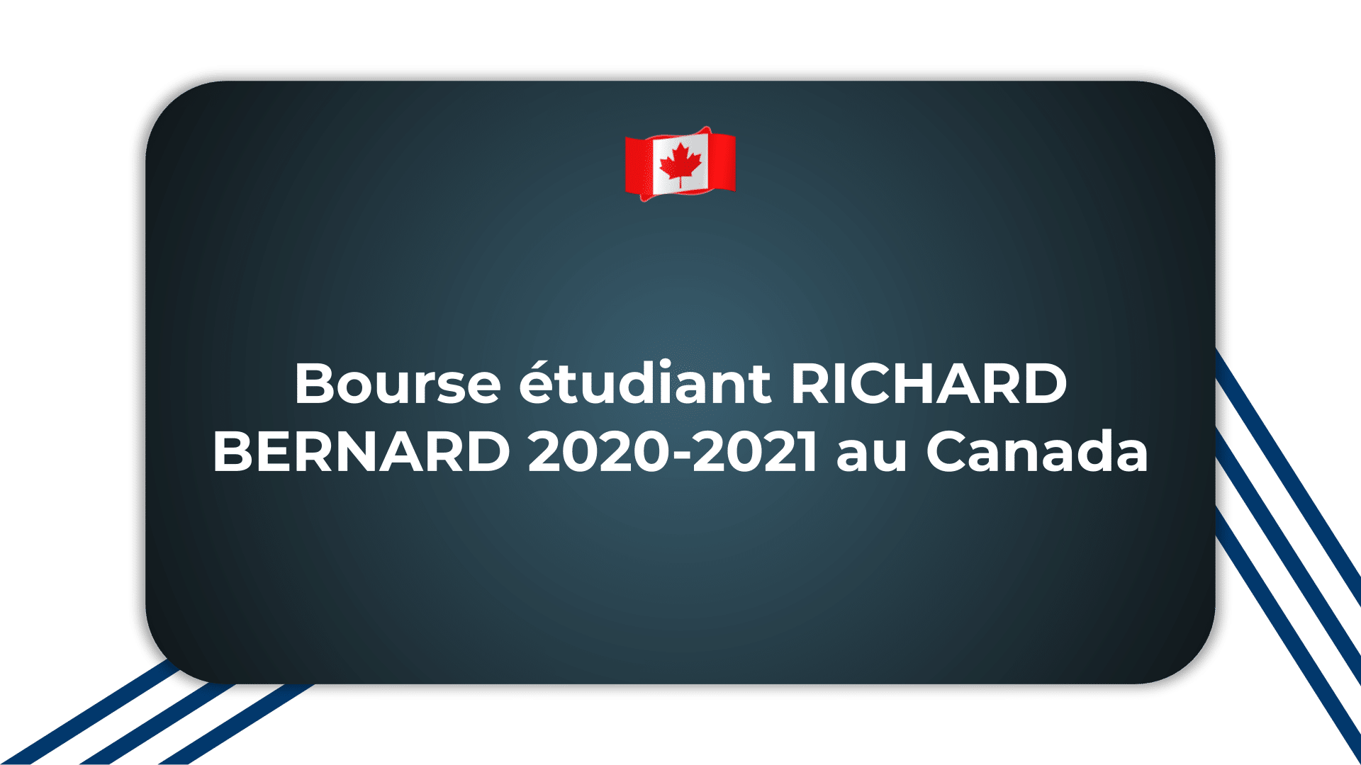 Bourse étudiant RICHARD BERNARD