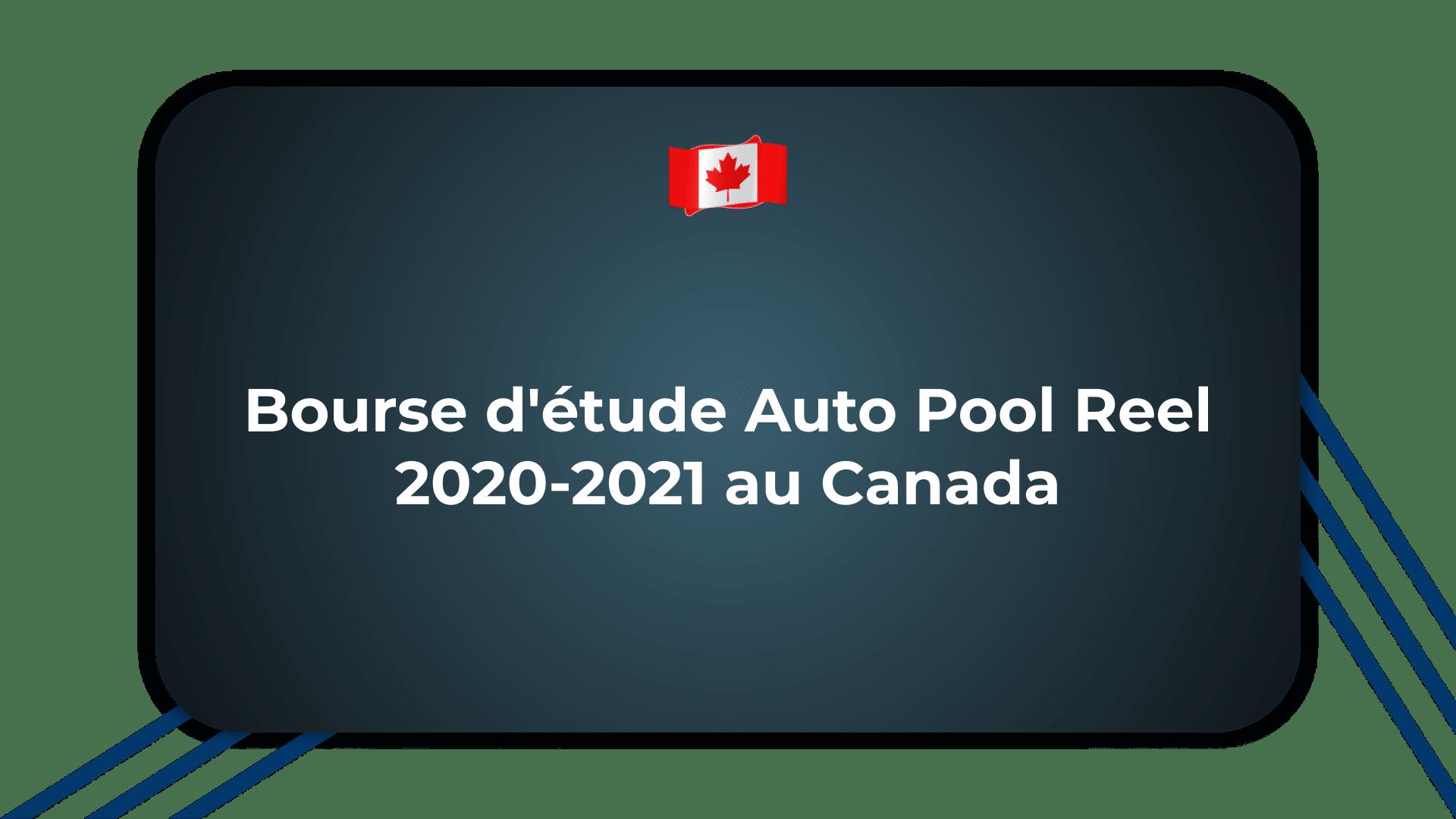 Bourse d'étude Auto Pool Reel