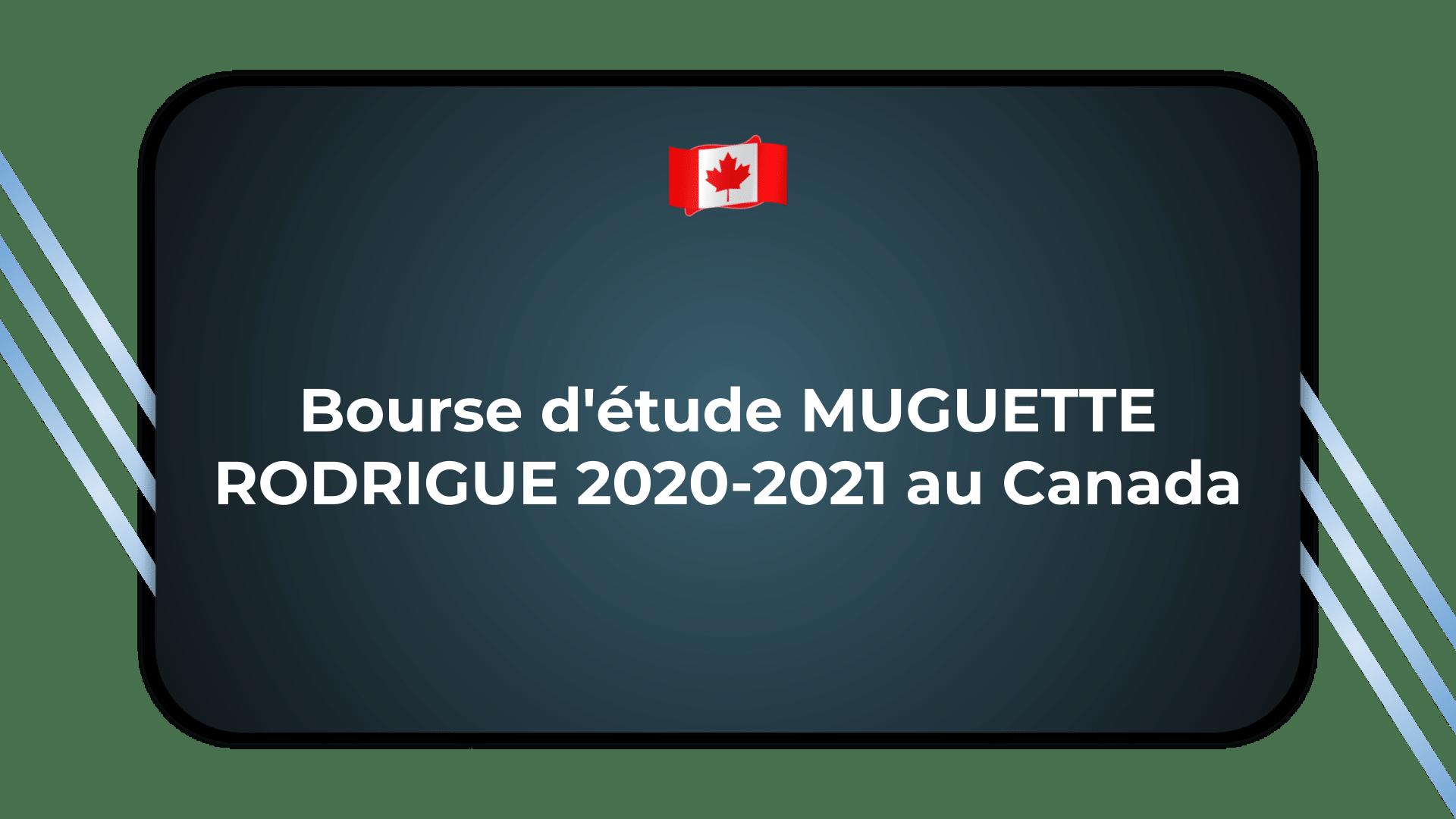 Bourse d'étude MUGUETTE RODRIGUE