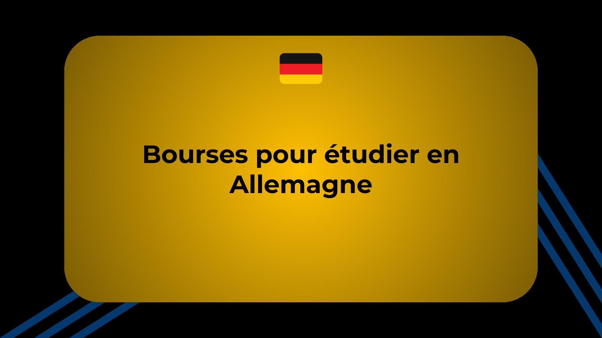 Bourses pour étudier en Allemagne