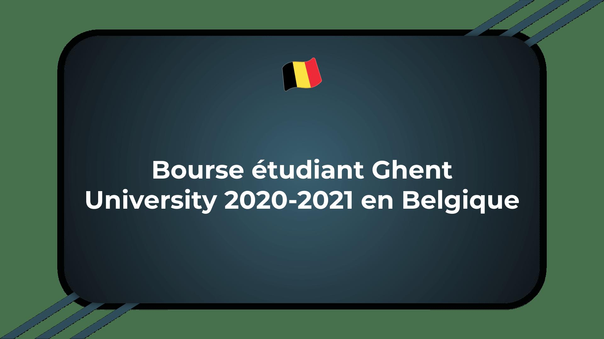 Bourse étudiant Ghent University