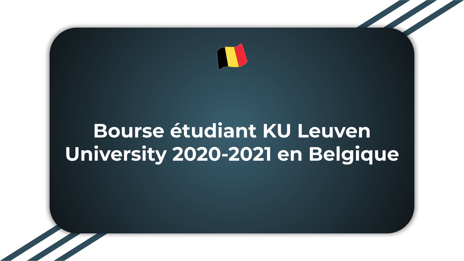 Bourse étudiant KU Leuven University