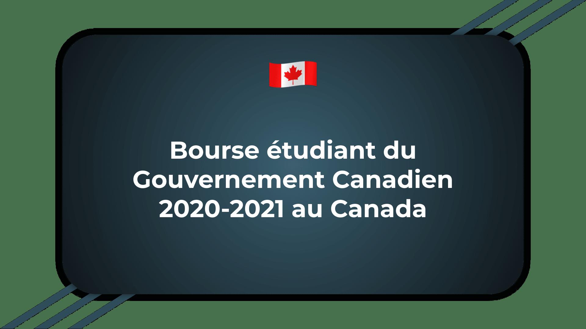 Bourse étudiant du Gouvernement Canadien