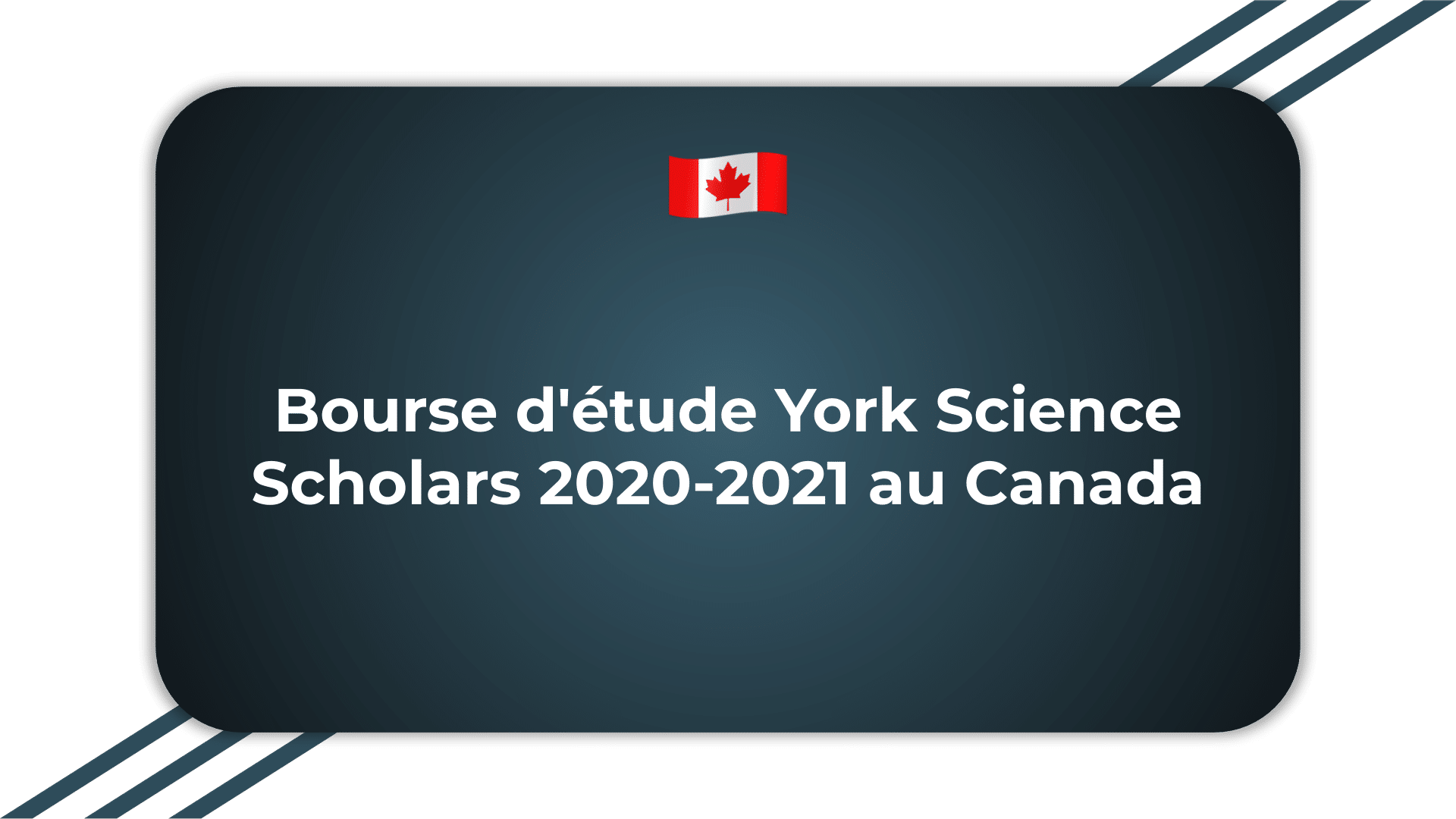 Bourse d'étude York Science Scholars
