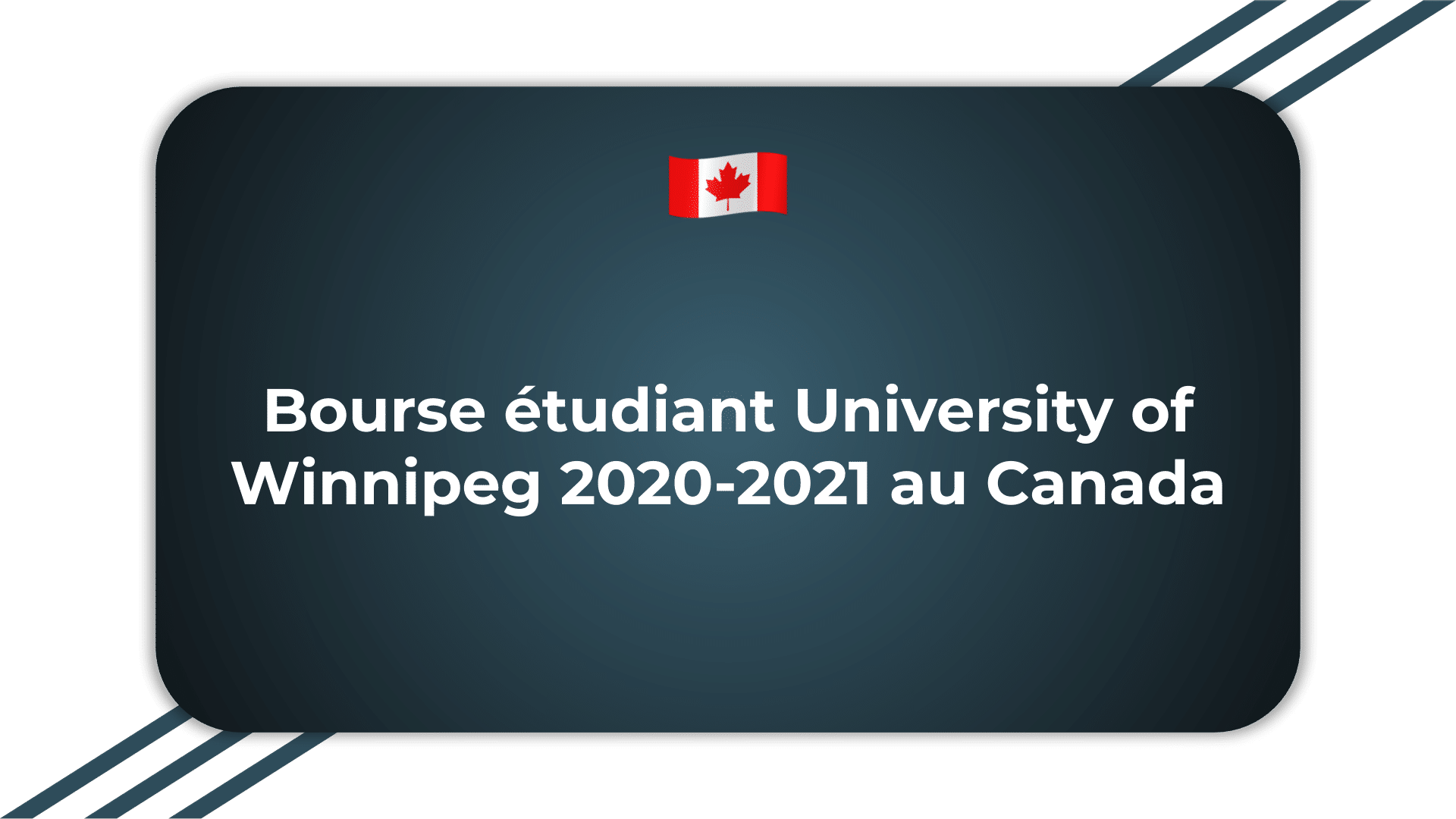 Bourse étudiant University of Winnipeg