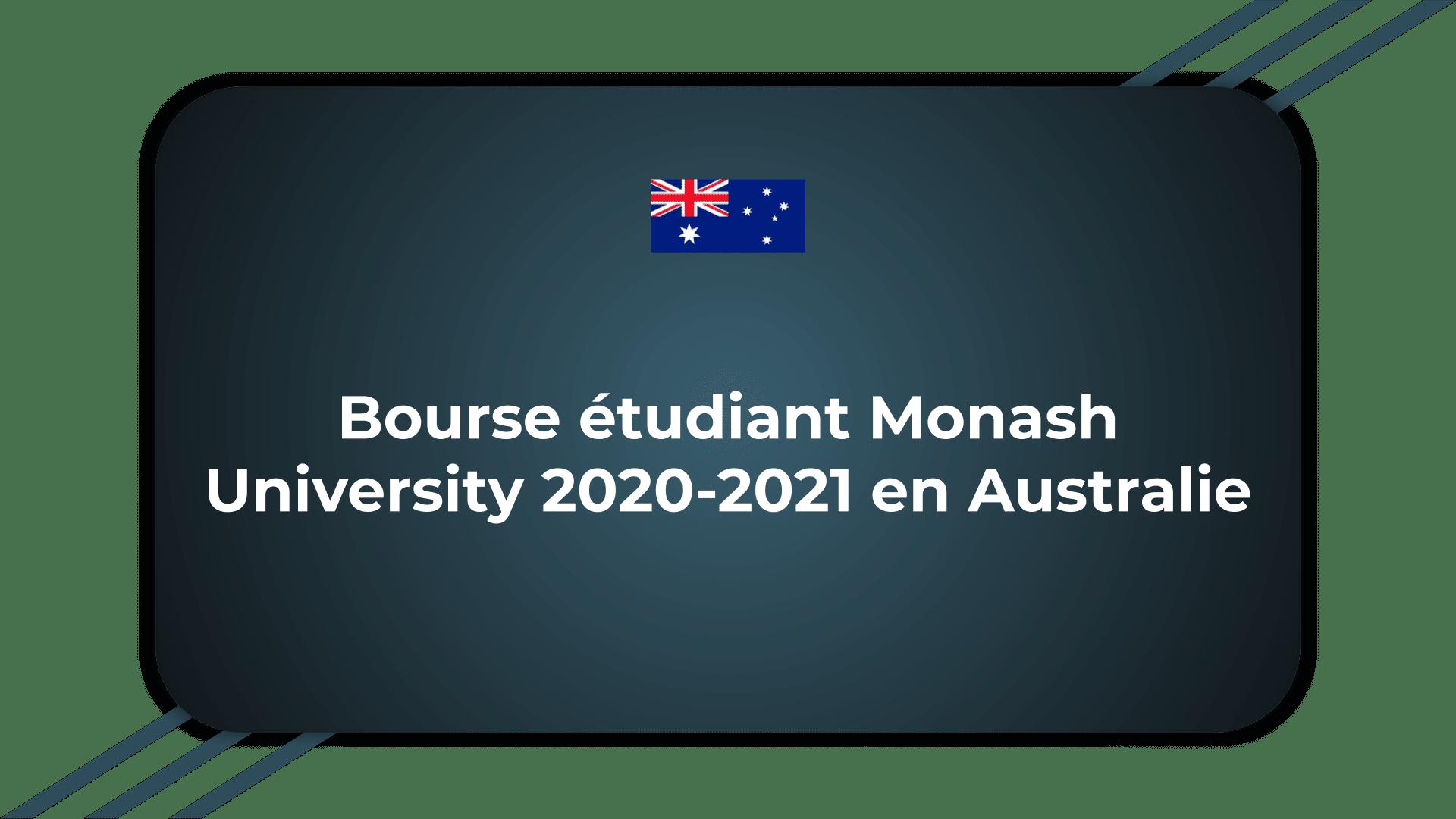 Bourse étudiant Monash University
