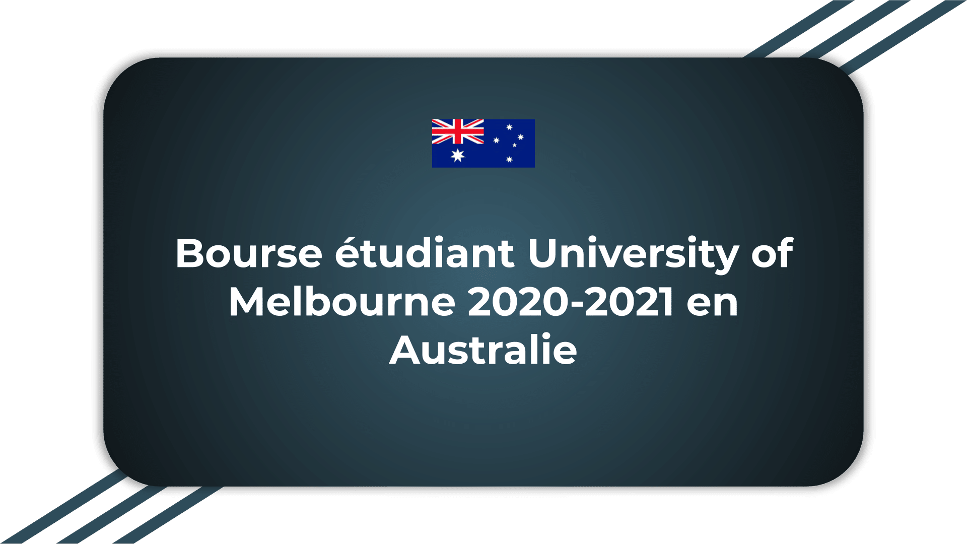 Bourse étudiant University of Melbourne