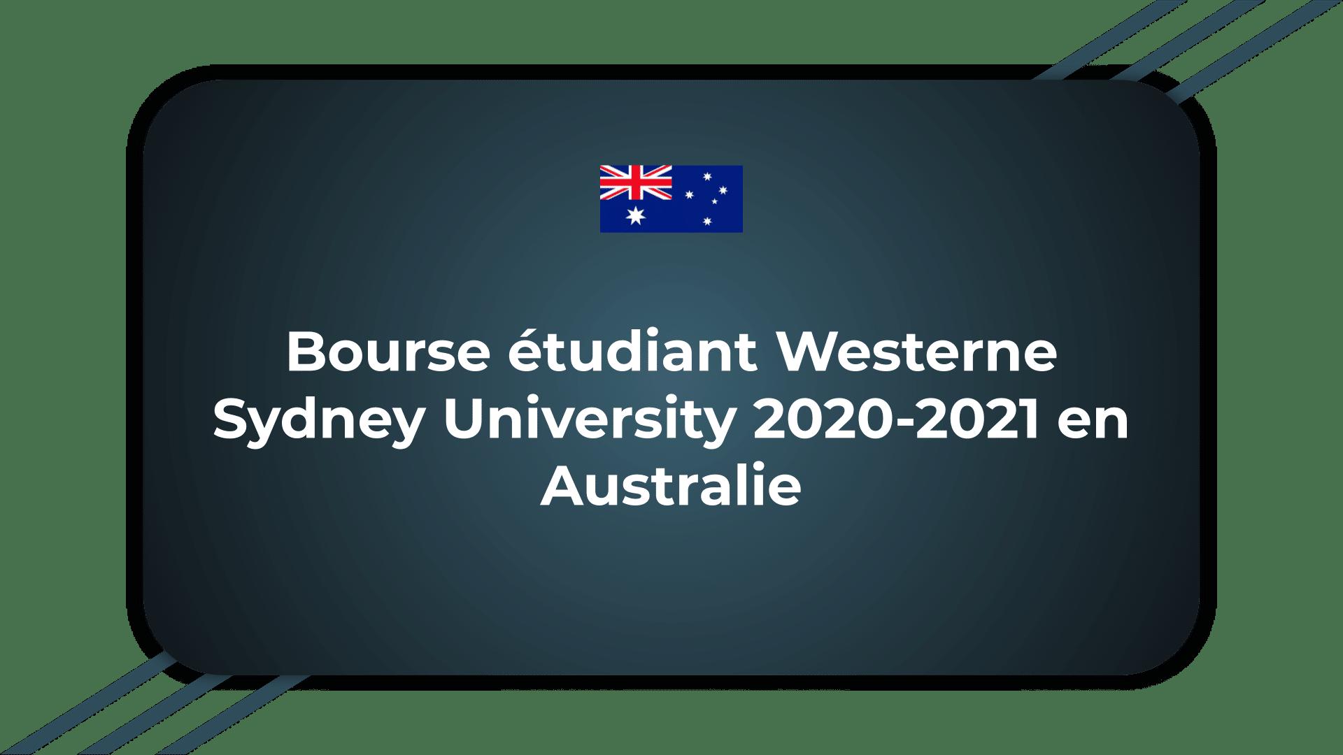 Bourse étudiant Westerne Sydney University