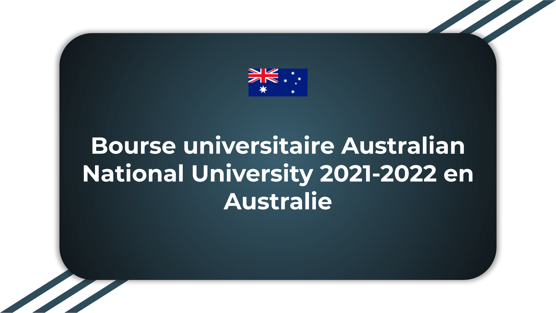 Bourse universitaire Australian National University